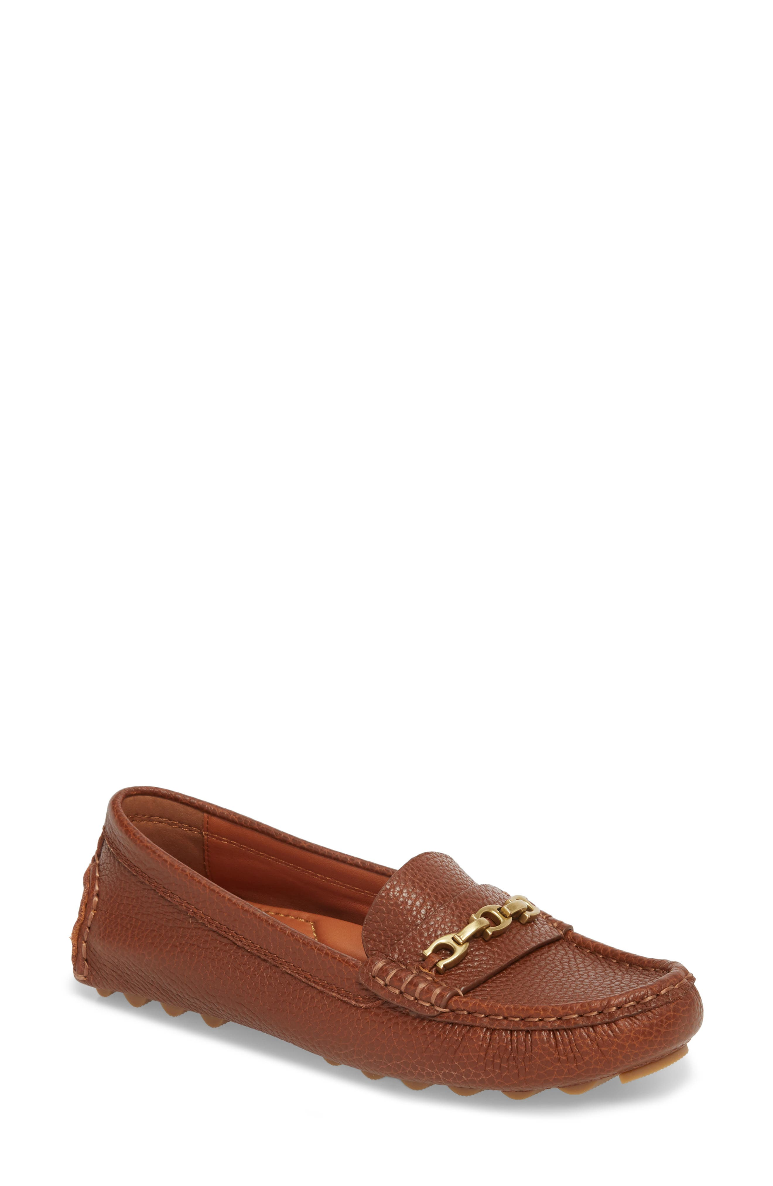 COACH, Crosby Driver Loafer, Main thumbnail 1, color, LION PEBBLED LEATHER
