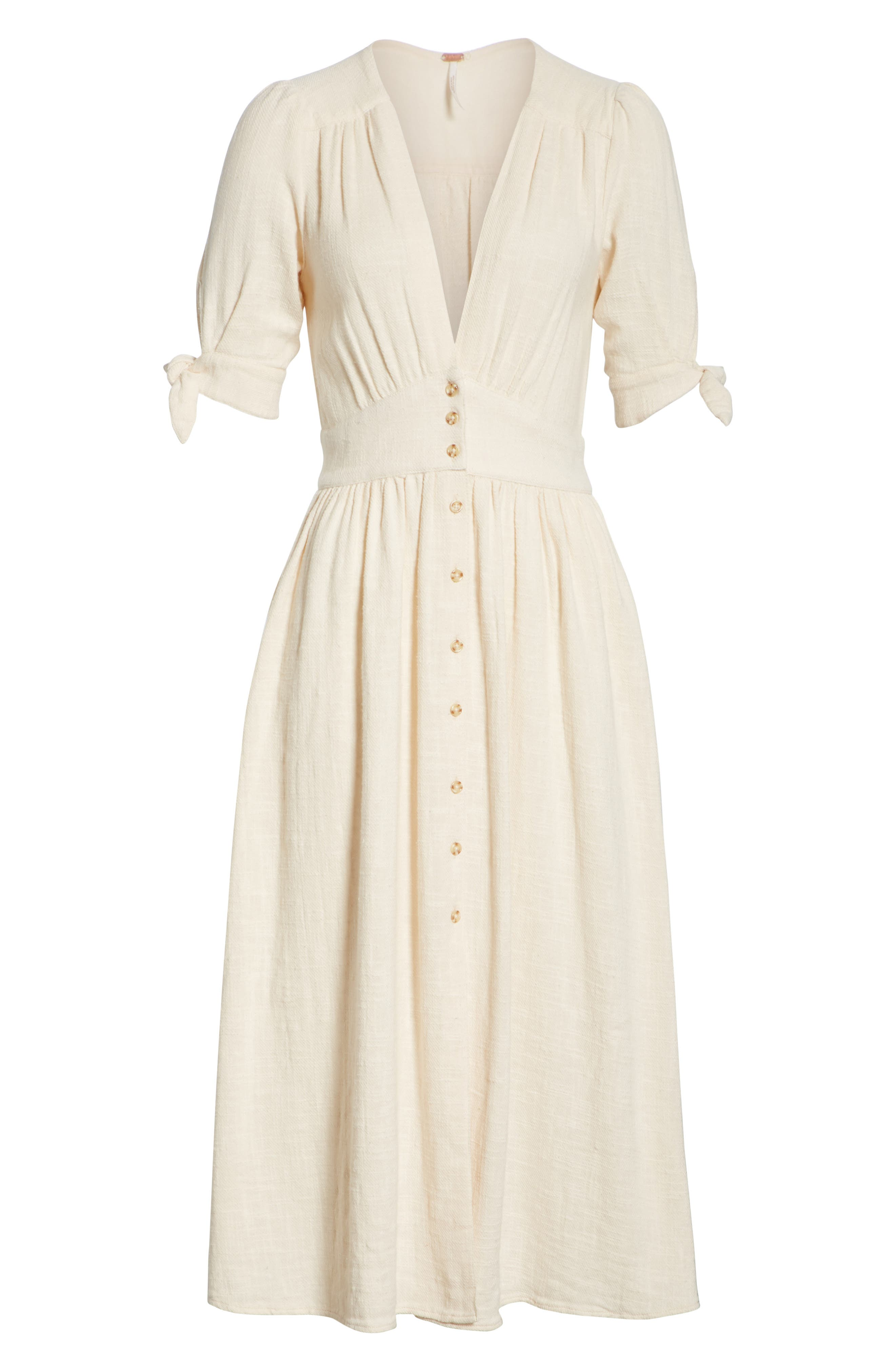 FREE PEOPLE, Love of My Life Midi Dress, Alternate thumbnail 8, color, IVORY