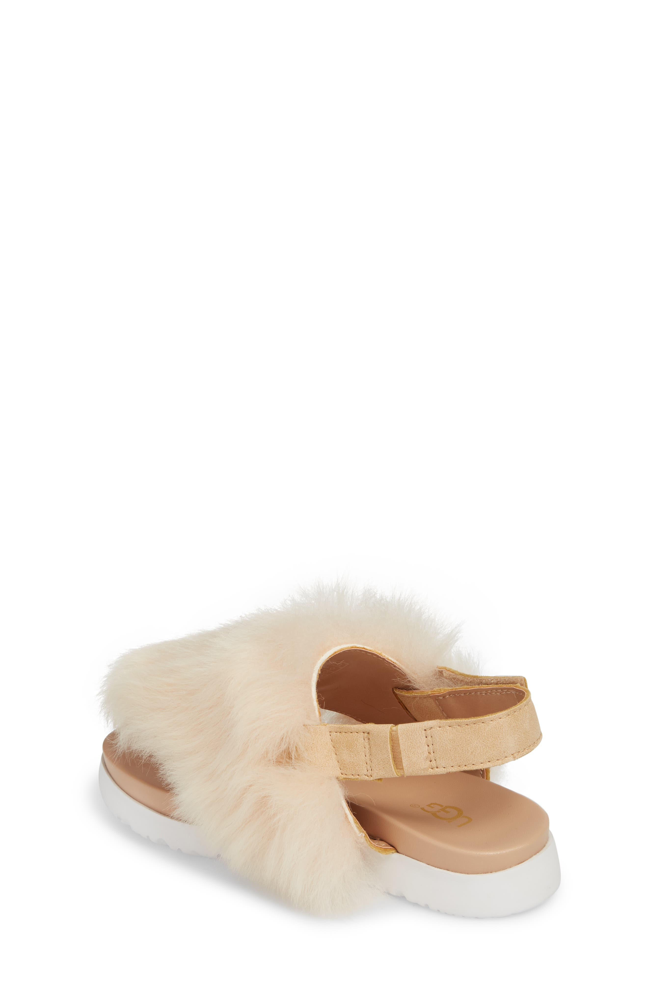 UGG<SUP>®</SUP>, Holly Genuine Shearling Sandal, Alternate thumbnail 2, color, SOFT OCHRE