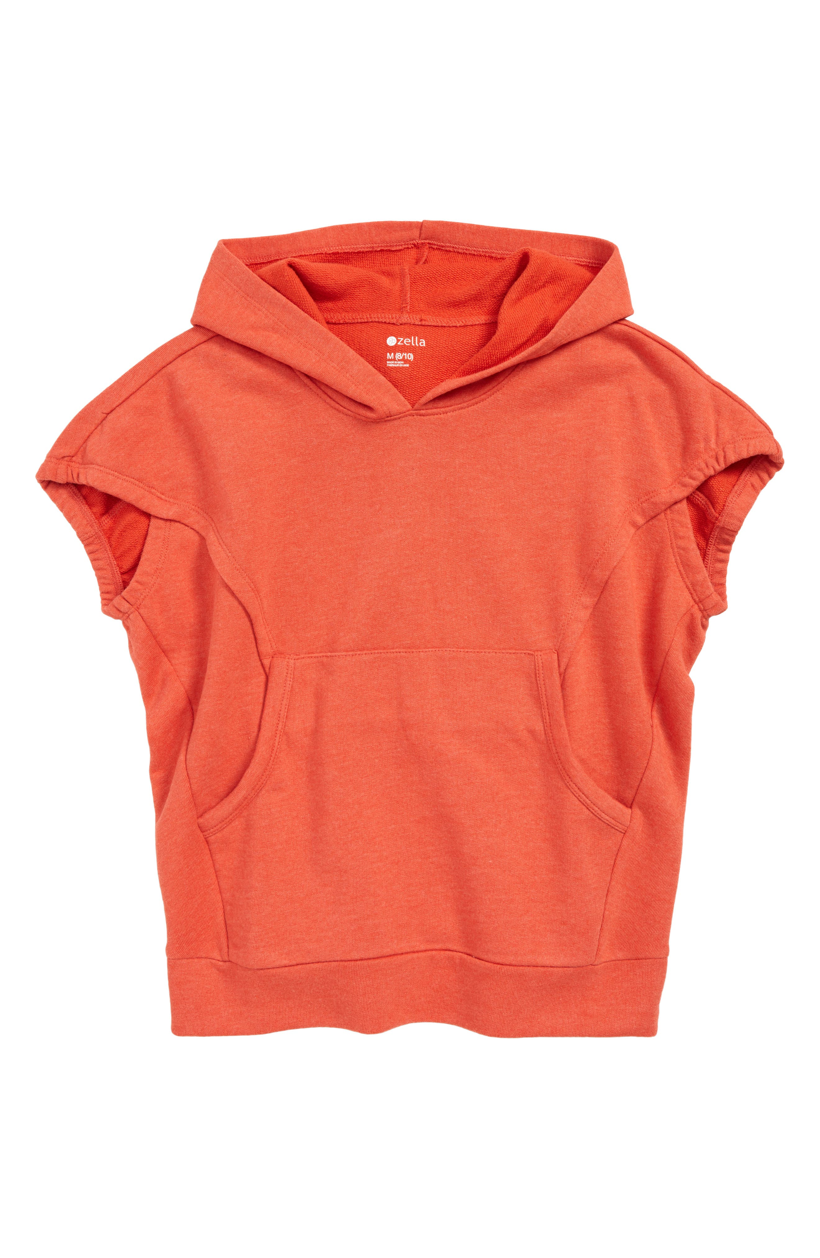 ZELLA GIRL Voyage Hoodie, Main, color, RED POPPY