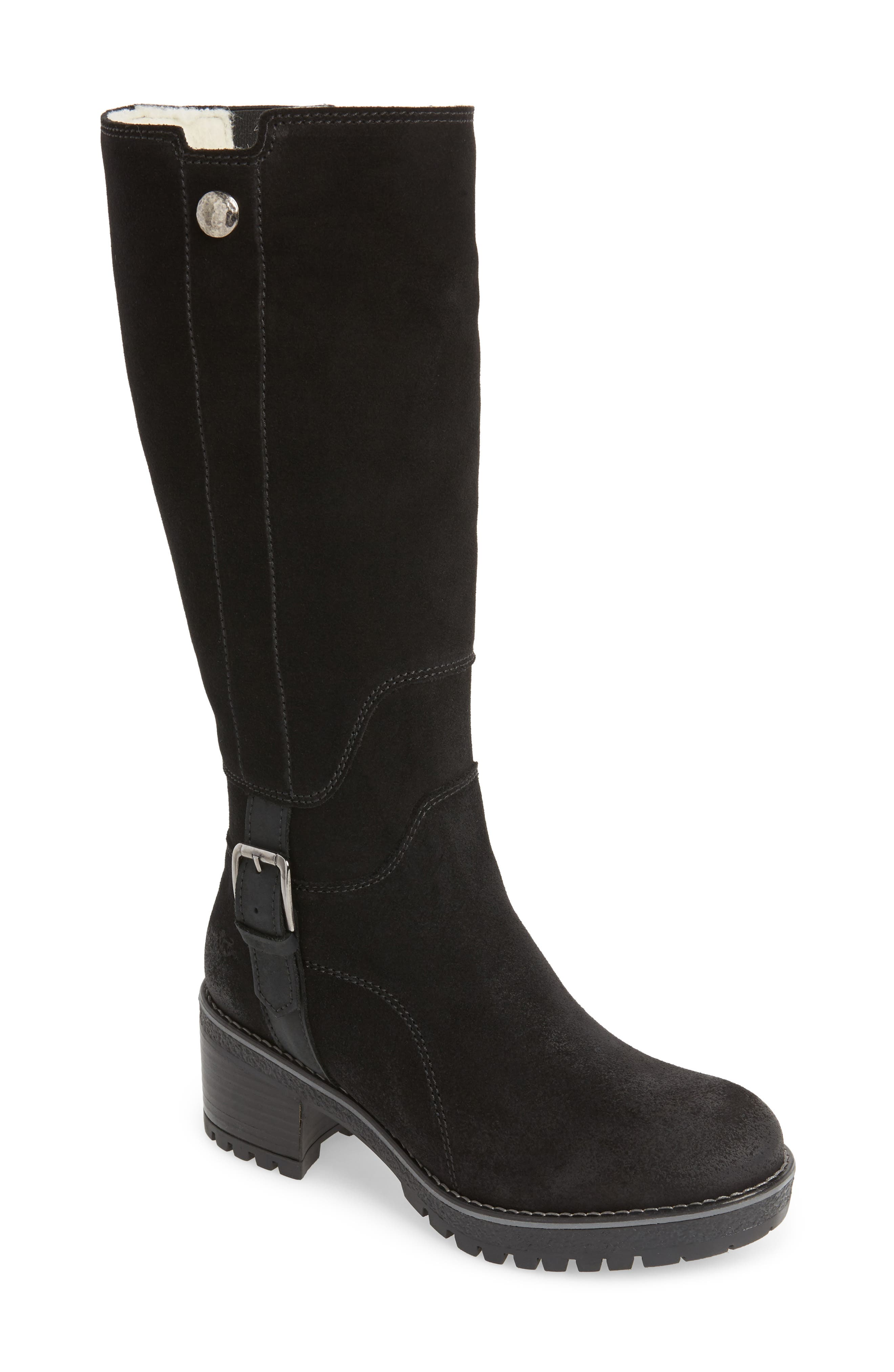 BOS. & CO., Major Waterproof Boot, Main thumbnail 1, color, BLACK SUEDE