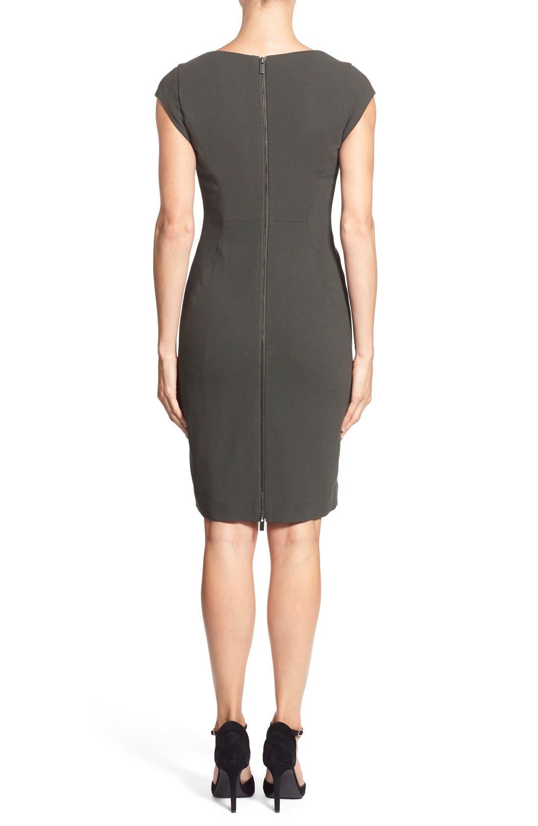 CLASSIQUES ENTIER<SUP>®</SUP>, V-Neck Double Cloth Sheath Dress, Alternate thumbnail 5, color, 301