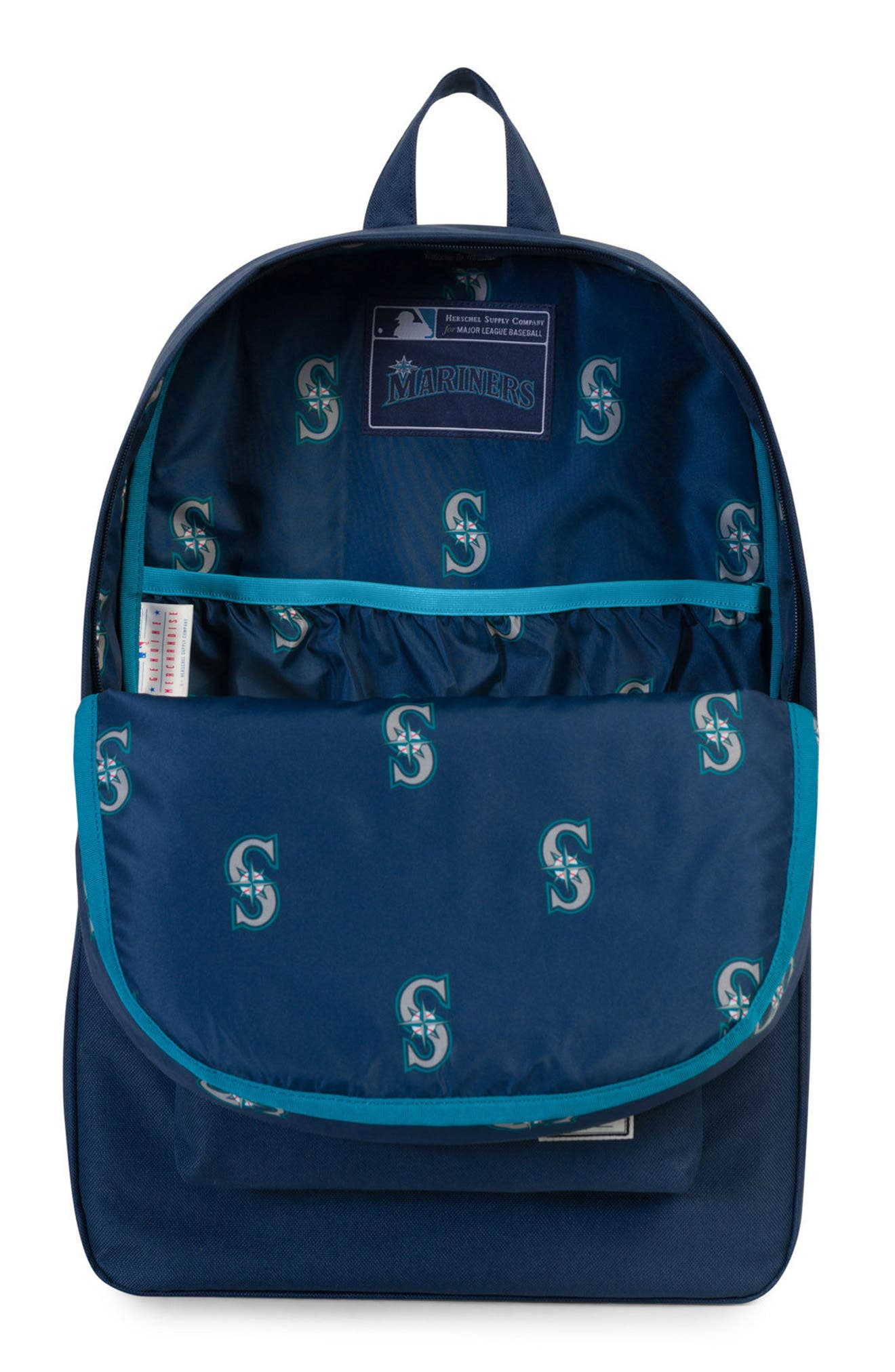 HERSCHEL SUPPLY CO., Heritage Seattle Mariners Backpack, Alternate thumbnail 3, color, SEATTLE MARINERS