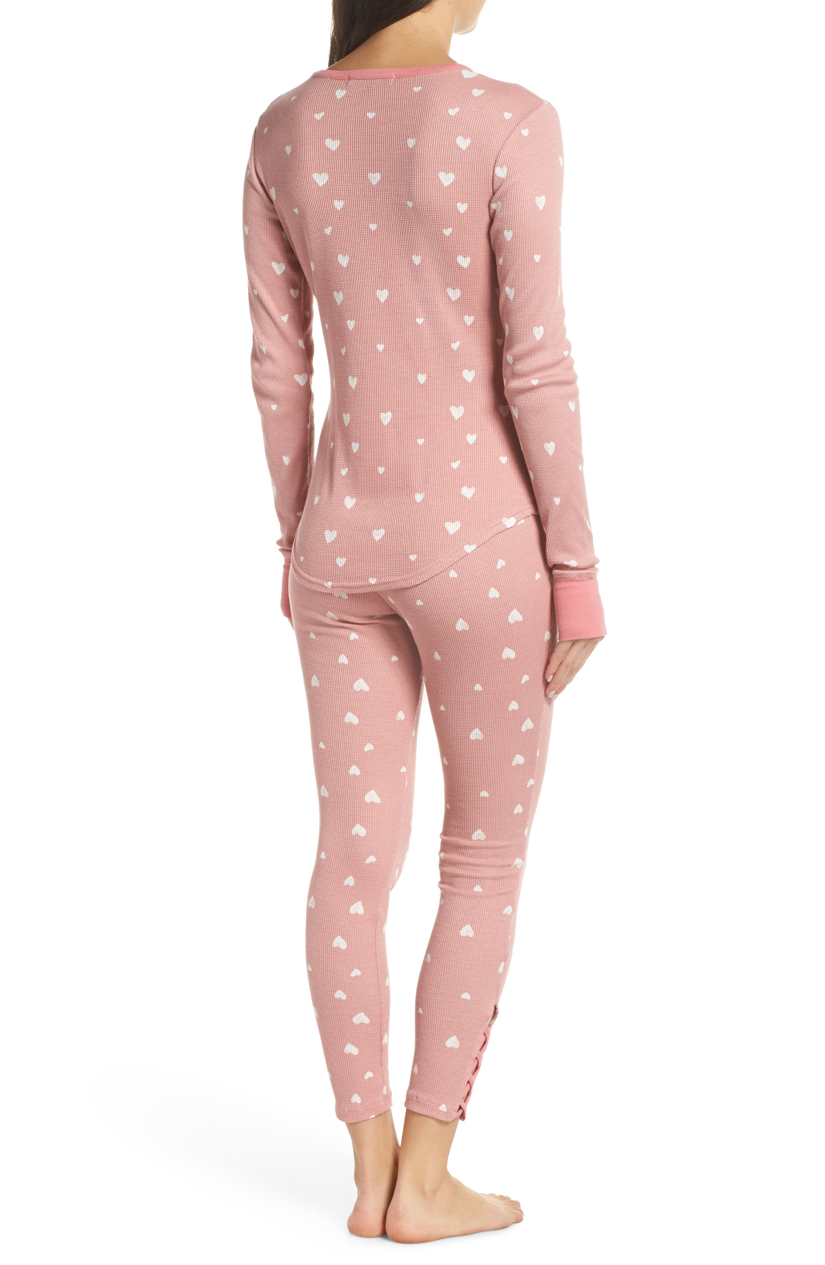 RETROSPECTIVE CO., Thermal Pajamas, Alternate thumbnail 2, color, 650
