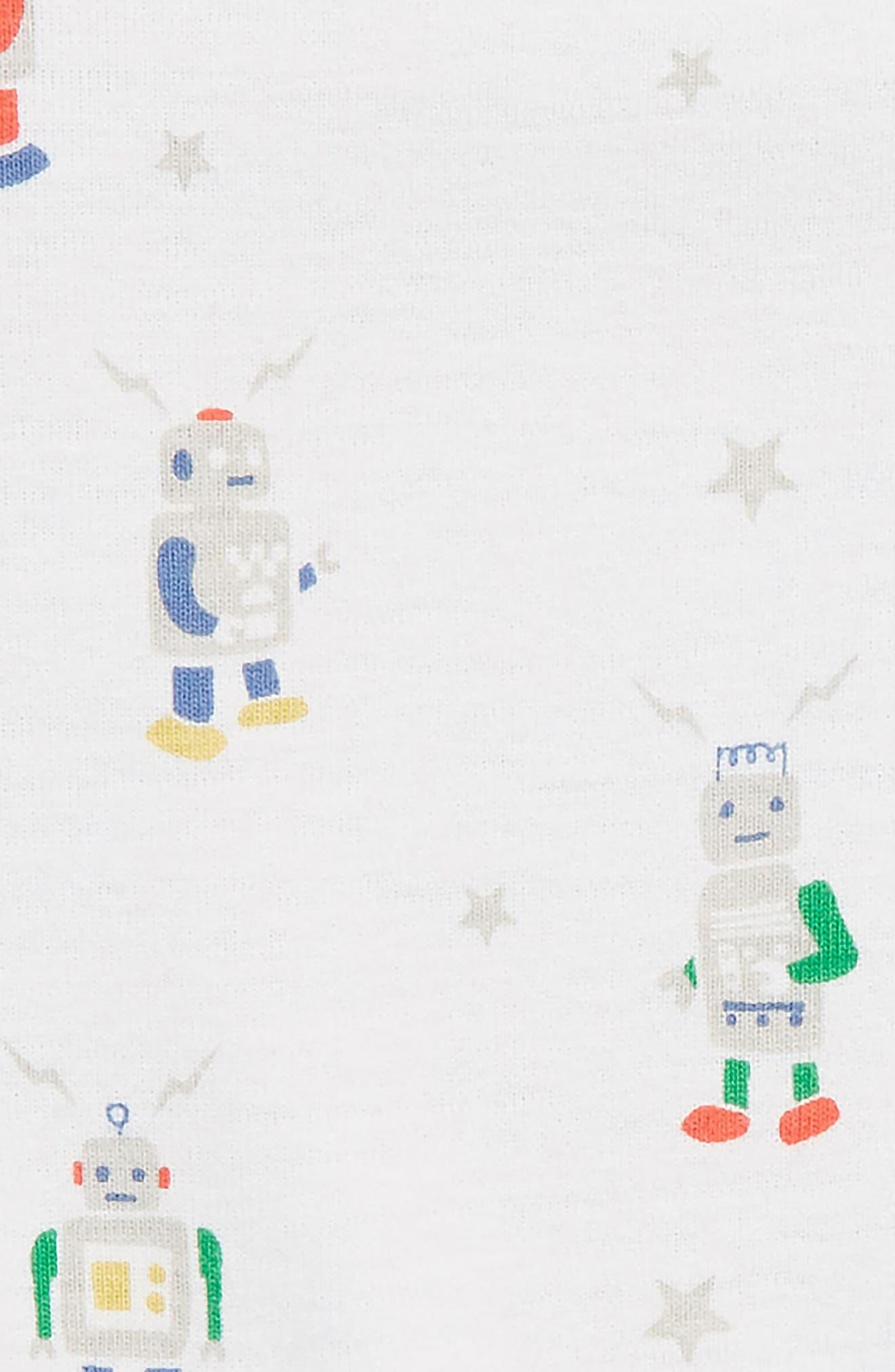 MINI BODEN, Print Footed Coveralls, Alternate thumbnail 2, color, MULTI ROBOTS