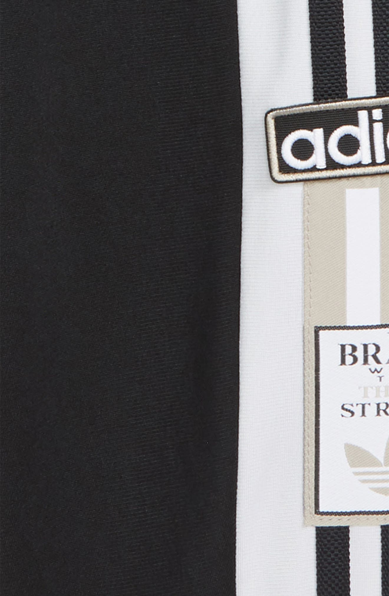 ADIDAS ORIGINALS, Adibreak Sweatpants, Alternate thumbnail 2, color, BLACK/ WHITE