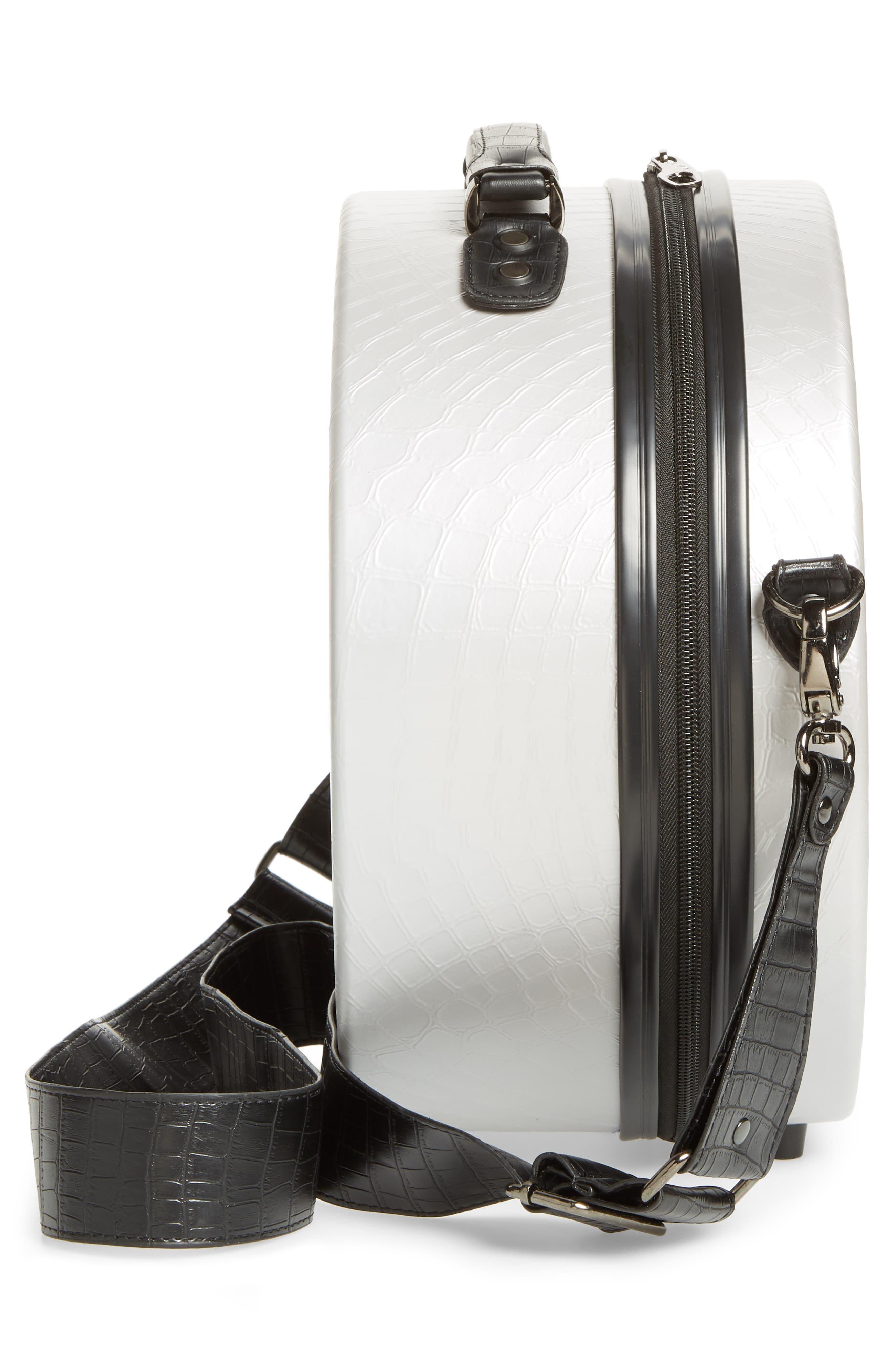 CALPAK, Baye Small Hardcase Hat Box, Alternate thumbnail 3, color, GREY