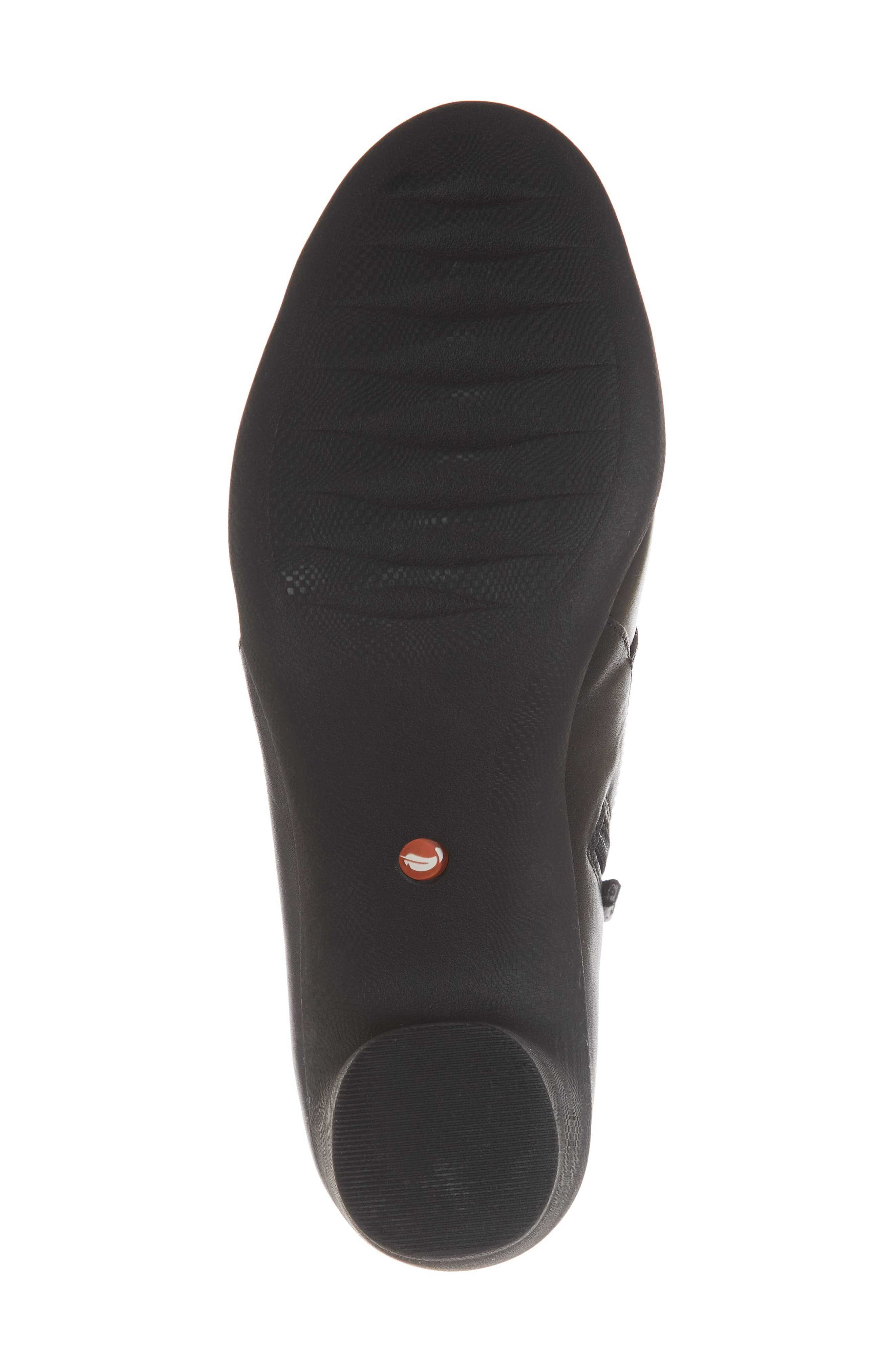 CLARKS<SUP>®</SUP>, Un Rosa Zip Bootie, Alternate thumbnail 6, color, BLACK LEATHER