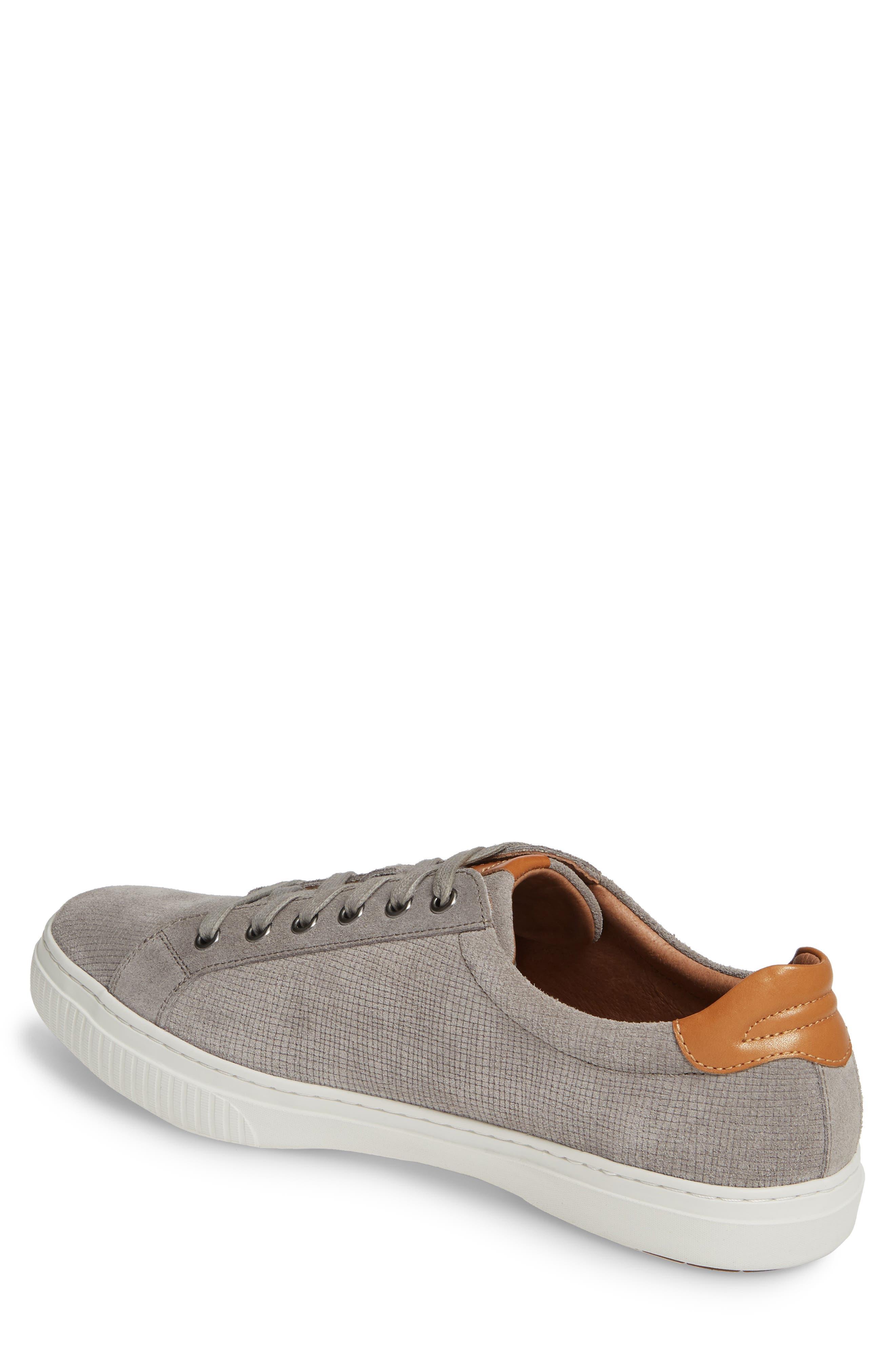 J&M 1850, Toliver Low Top Sneaker, Alternate thumbnail 2, color, GREY SUEDE