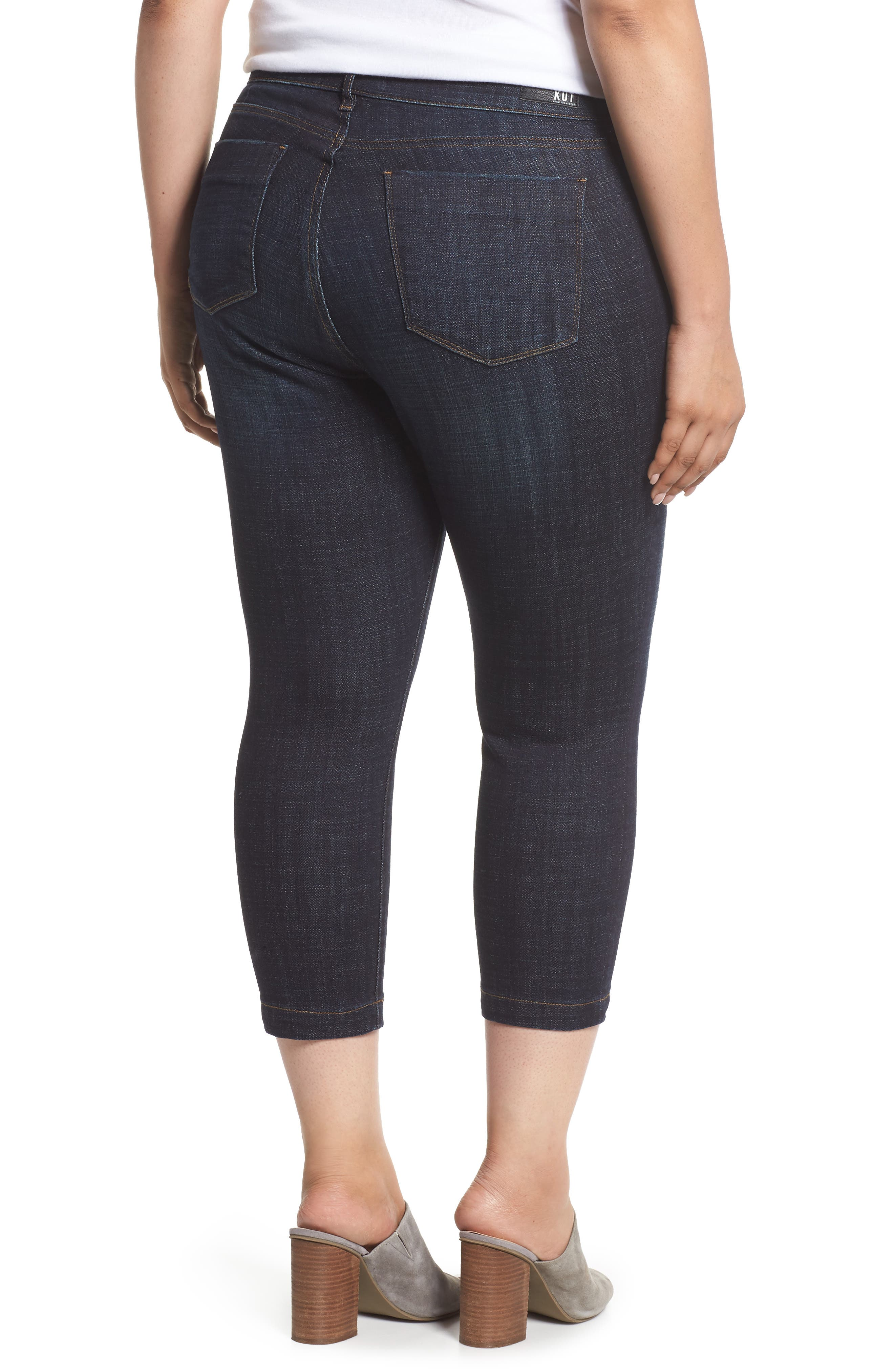 KUT FROM THE KLOTH, Lauren Crop Jeans, Alternate thumbnail 2, color, ACKNOWLEDGING