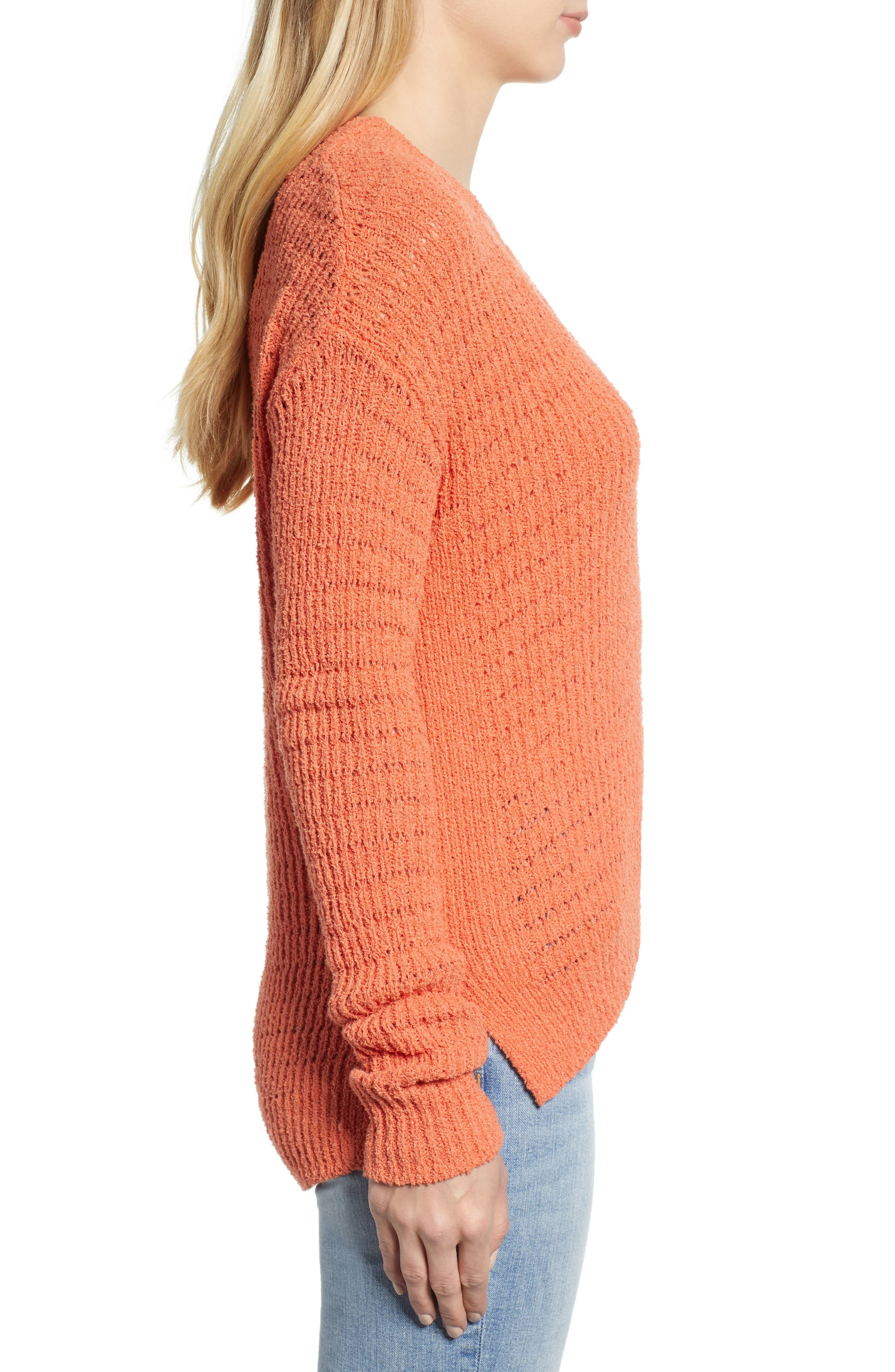 CASLON<SUP>®</SUP>, Tuck Stitch Sweater, Alternate thumbnail 3, color, 801
