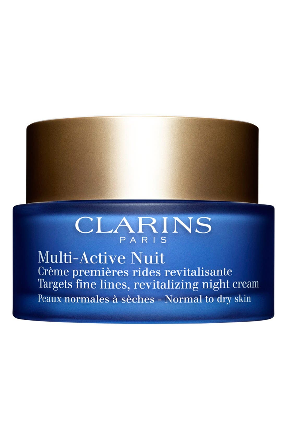 CLARINS, Multi-Active Night Cream for Normal to Dry Skin Types, Main thumbnail 1, color, NO COLOR