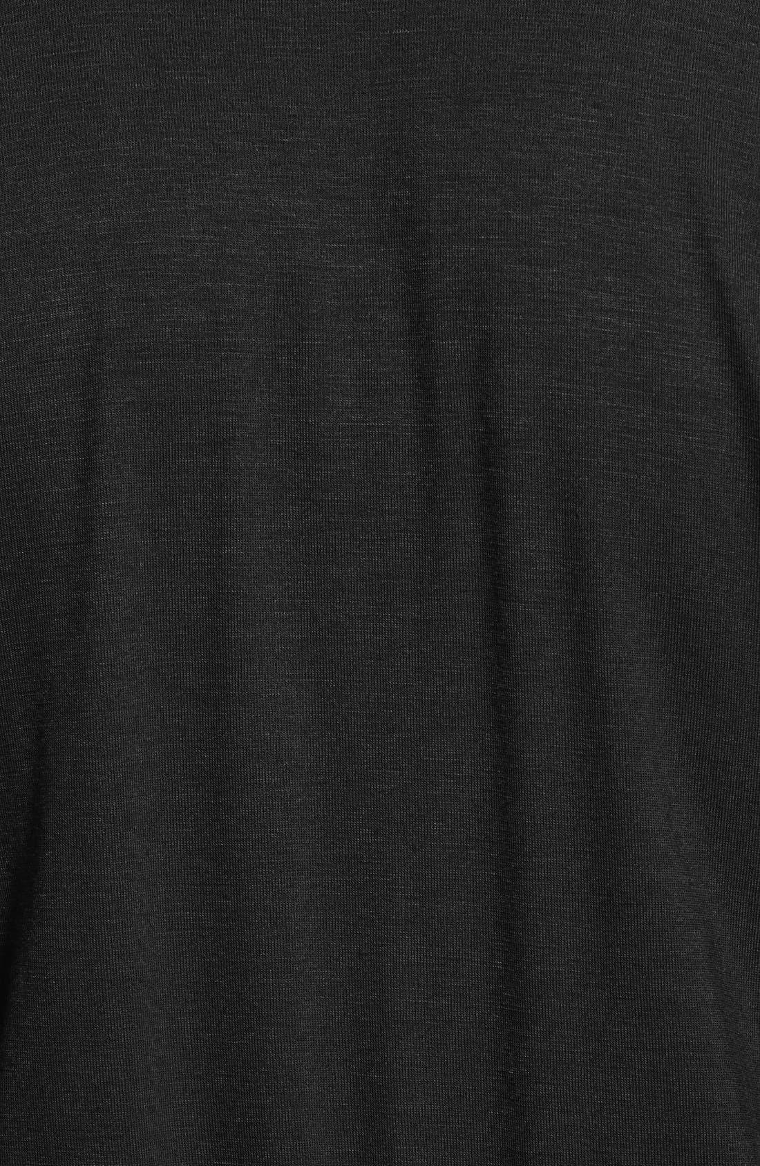 LOVEAPPELLA, Short Sleeve Wrap Top Jumpsuit, Alternate thumbnail 2, color, BLACK