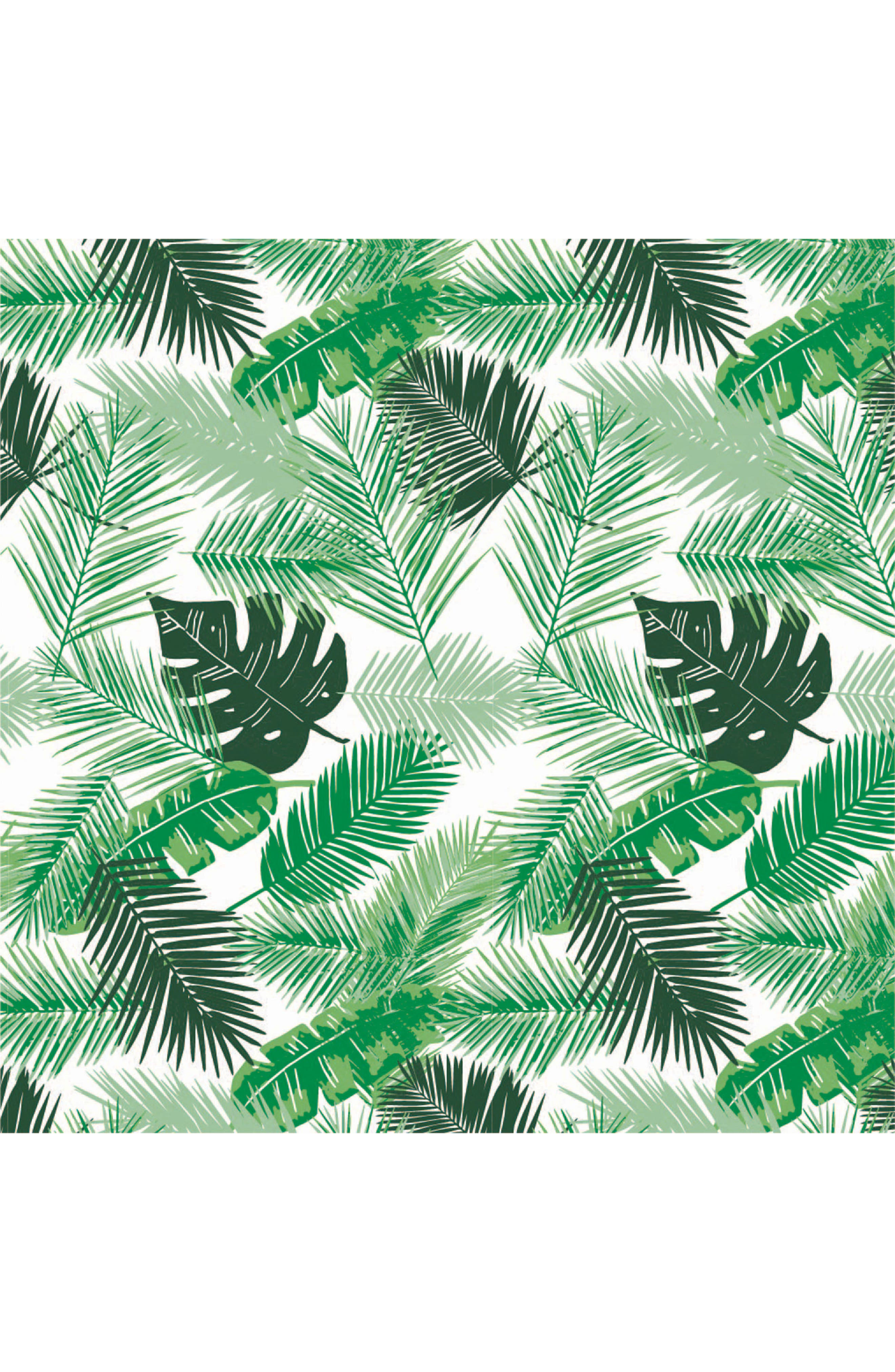 BÉBÉ AU LAIT, Rio Palms Muslin Snuggle Blanket, Alternate thumbnail 2, color, RIO & PALMS