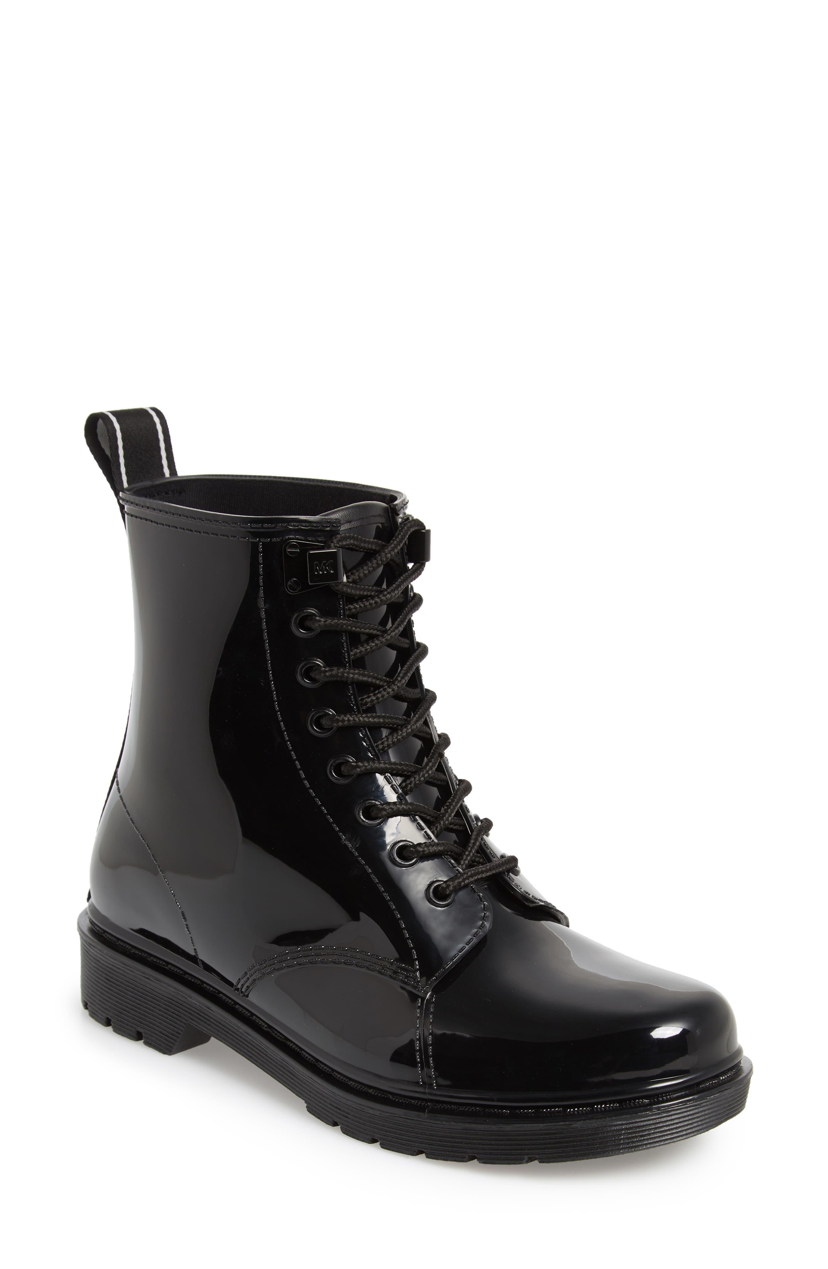 MICHAEL MICHAEL KORS, Tavie Rain Boot, Main thumbnail 1, color, BLACK