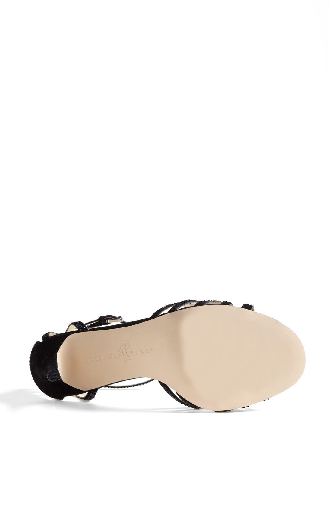 IVANKA TRUMP, 'Gifford' Crystal Embellished Sandal, Alternate thumbnail 4, color, 001