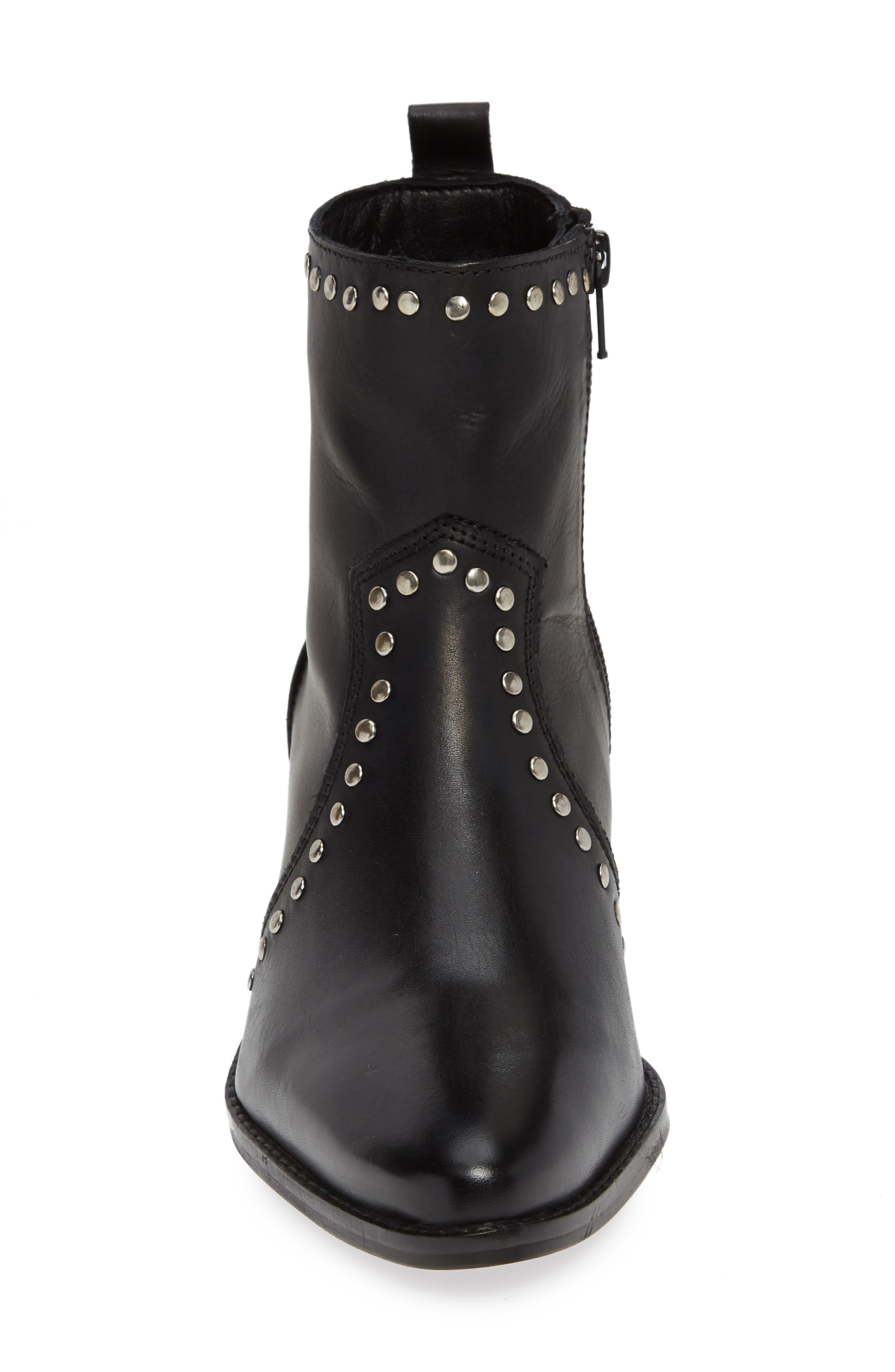 CHARLES BY CHARLES DAVID, Zye Bootie, Alternate thumbnail 4, color, BLACK LEATHER