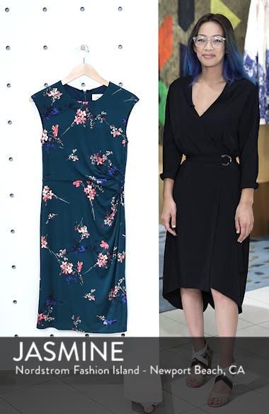 Cap Sleeve Floral Print Sheath Dress, sales video thumbnail