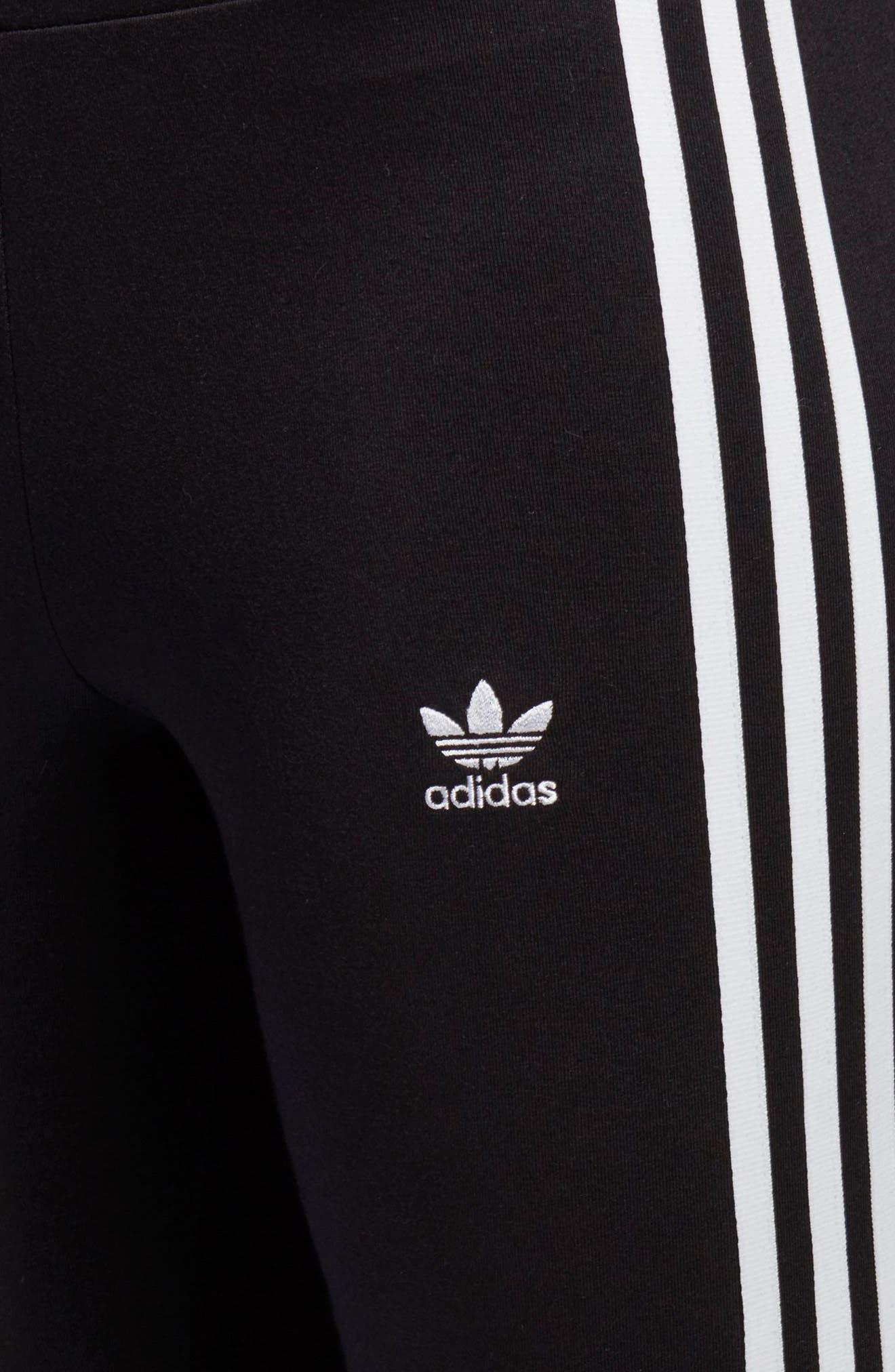 ADIDAS ORIGINALS, adidas 3-Stripes Tights, Alternate thumbnail 8, color, 001