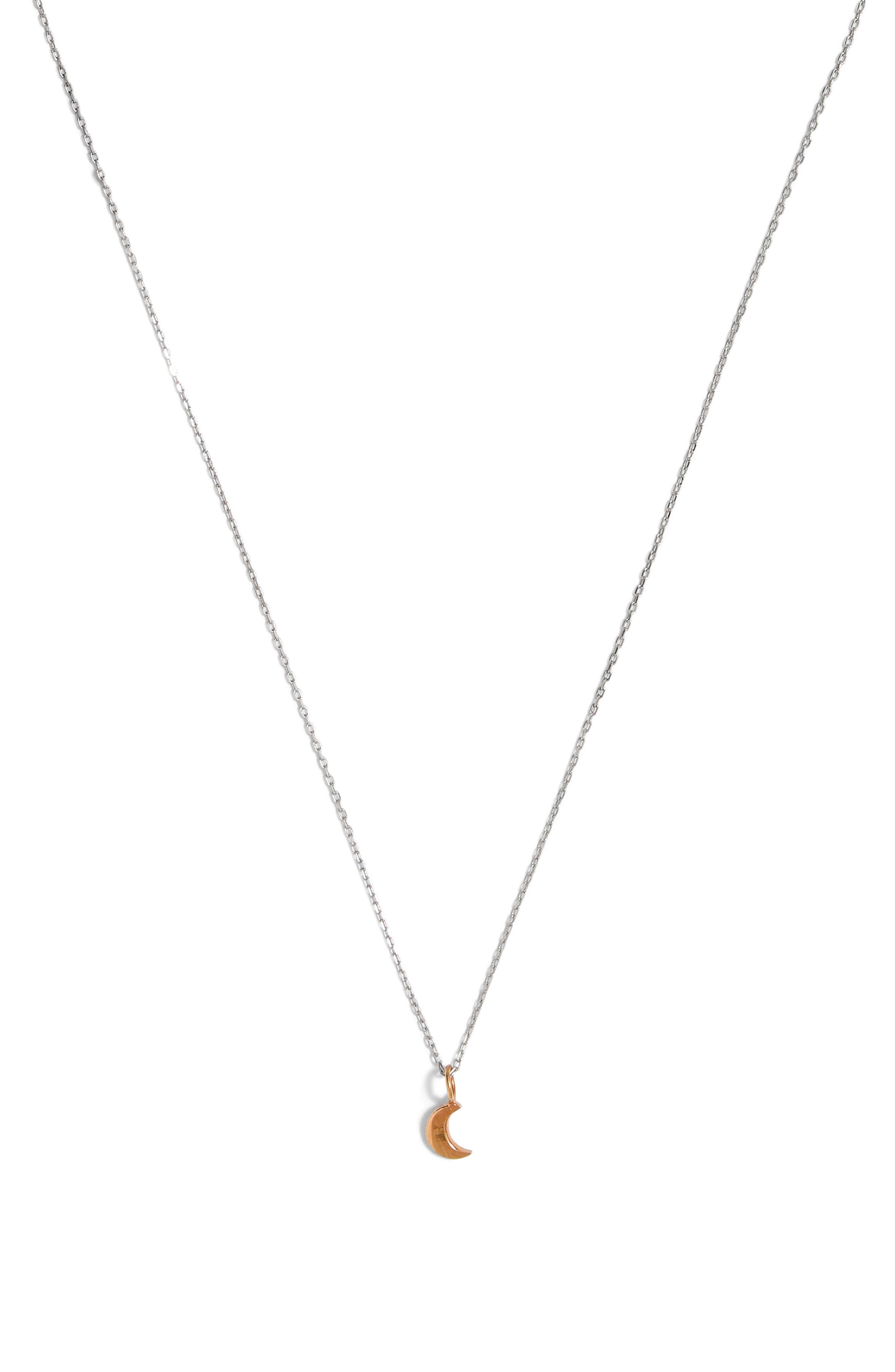 MADEWELL, Vermeil Crescent Moon Charm Necklace, Main thumbnail 1, color, VERMEIL