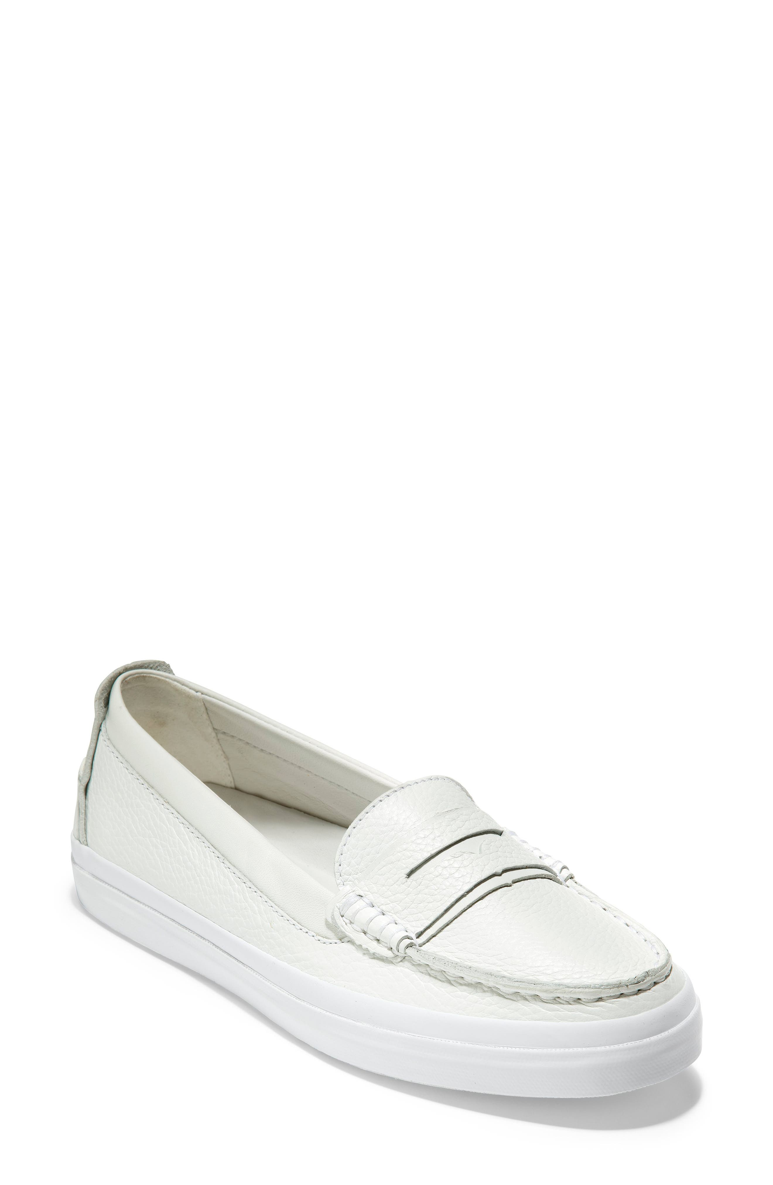 COLE HAAN, Pinch LX Loafer, Main thumbnail 1, color, OPTIC WHITE LEATHER