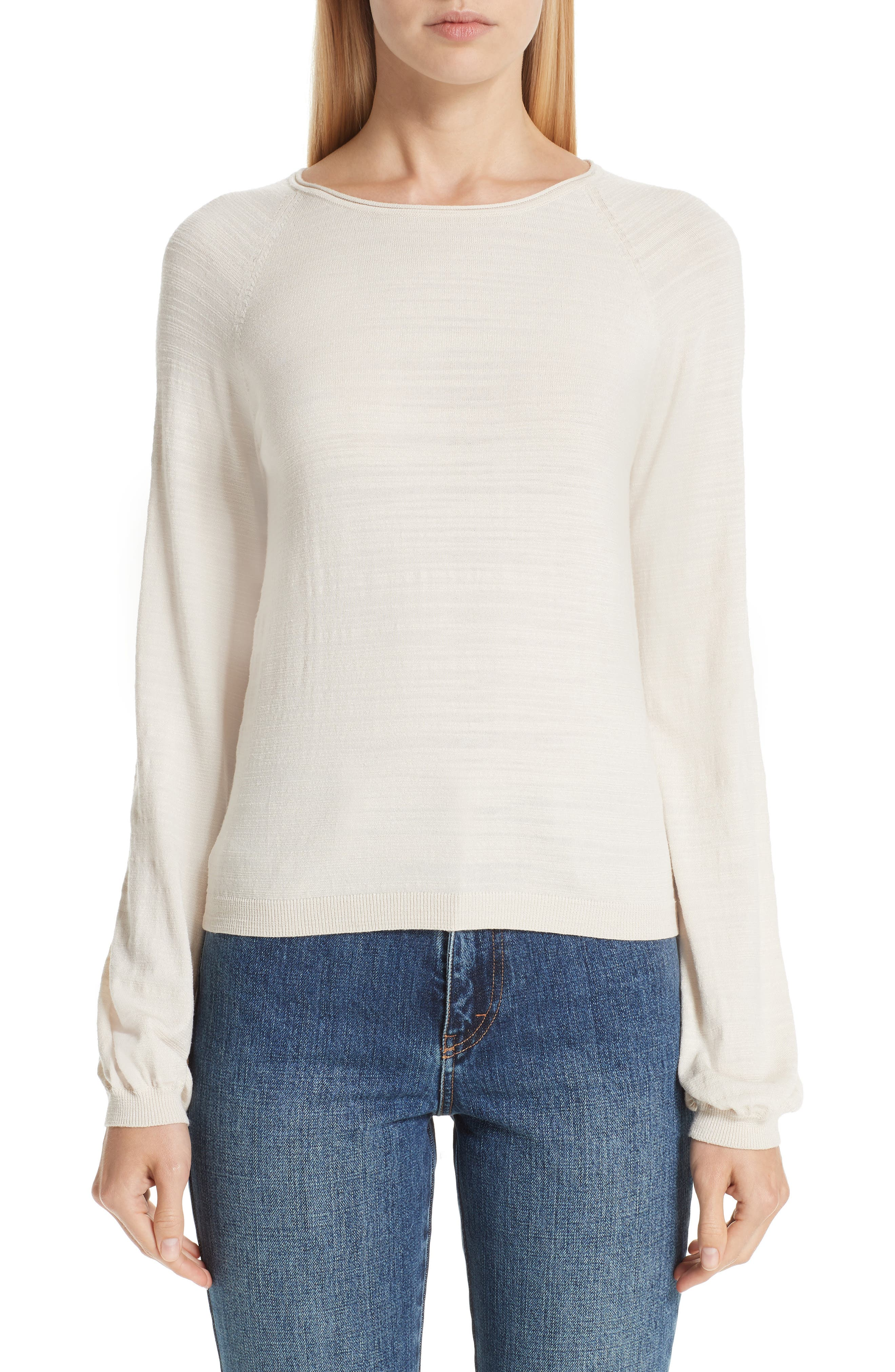 CO, Cashmere Raglan Sweater, Main thumbnail 1, color, IVORY