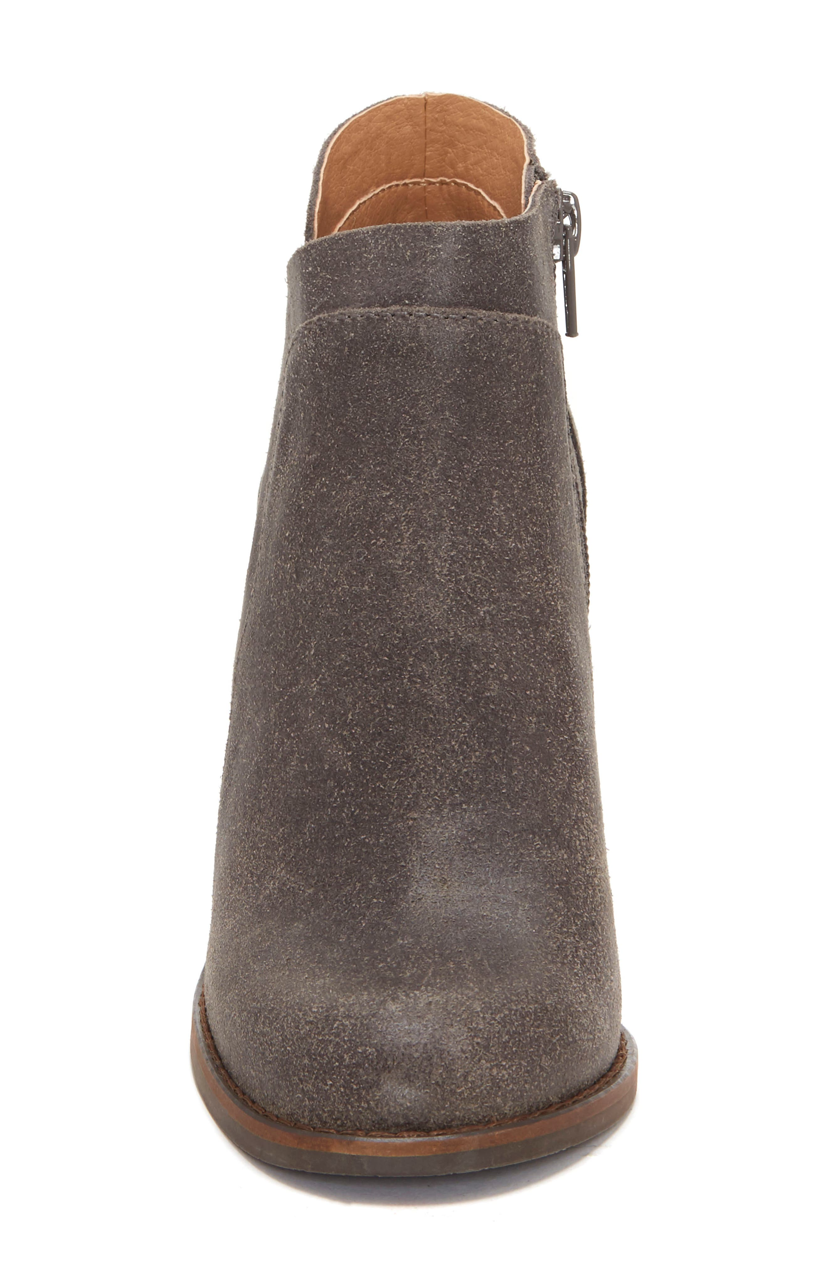 LUCKY BRAND, Yabba Wedge Bootie, Alternate thumbnail 4, color, STORM NUBUCK