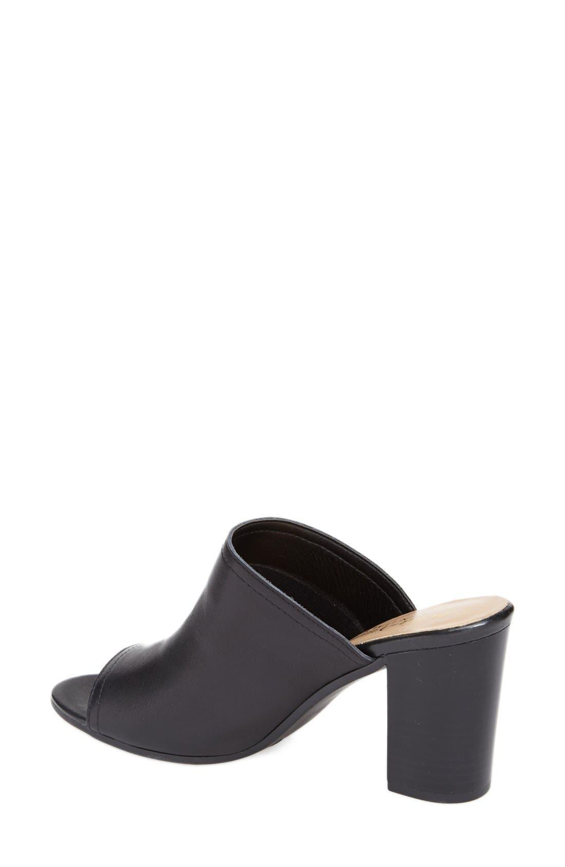 BELLA VITA, 'Arno' Leather Mule, Alternate thumbnail 4, color, 001