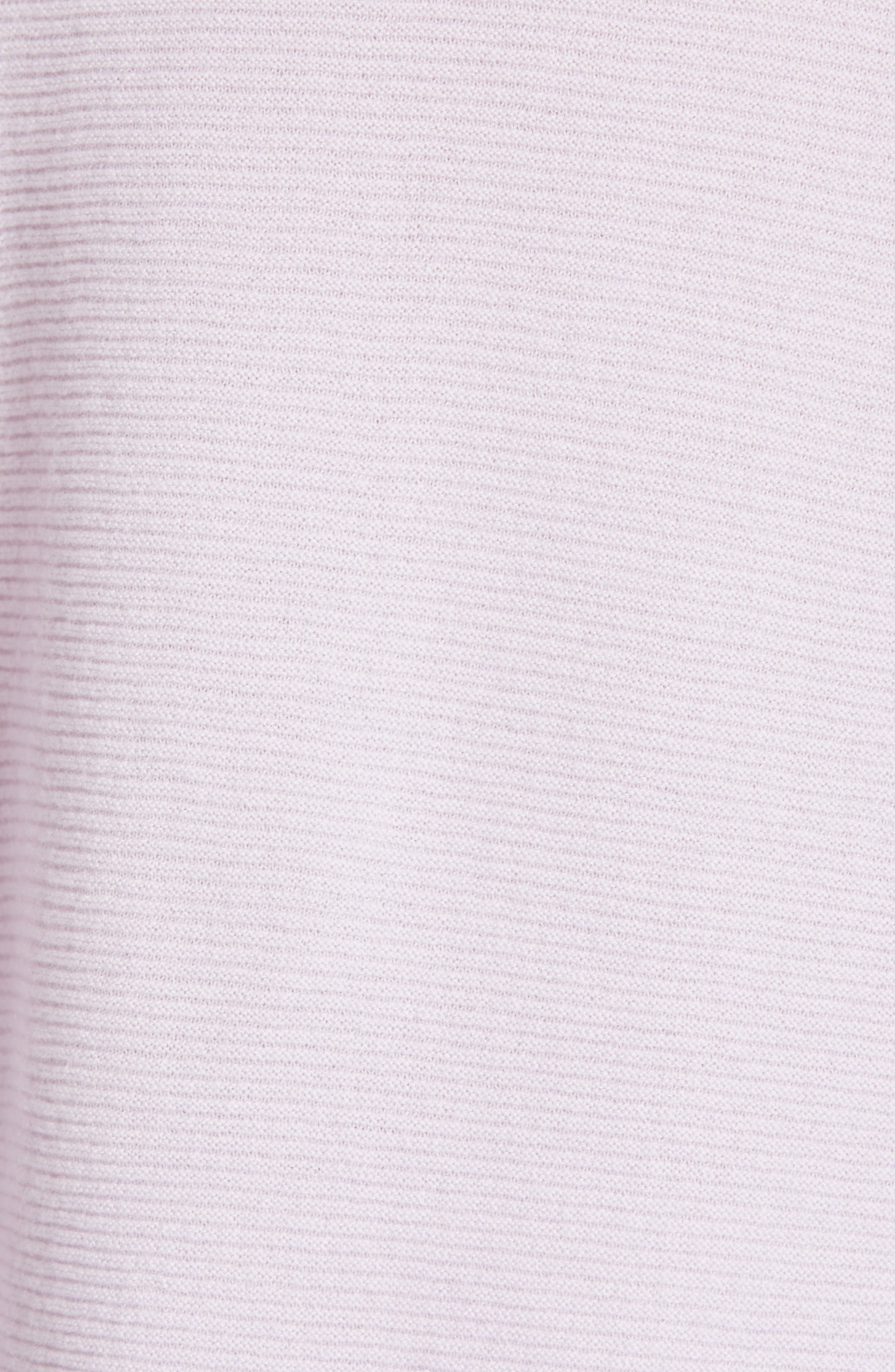 EILEEN FISHER, Bateau Neck Cashmere Tunic Sweater, Alternate thumbnail 5, color, MALLOW