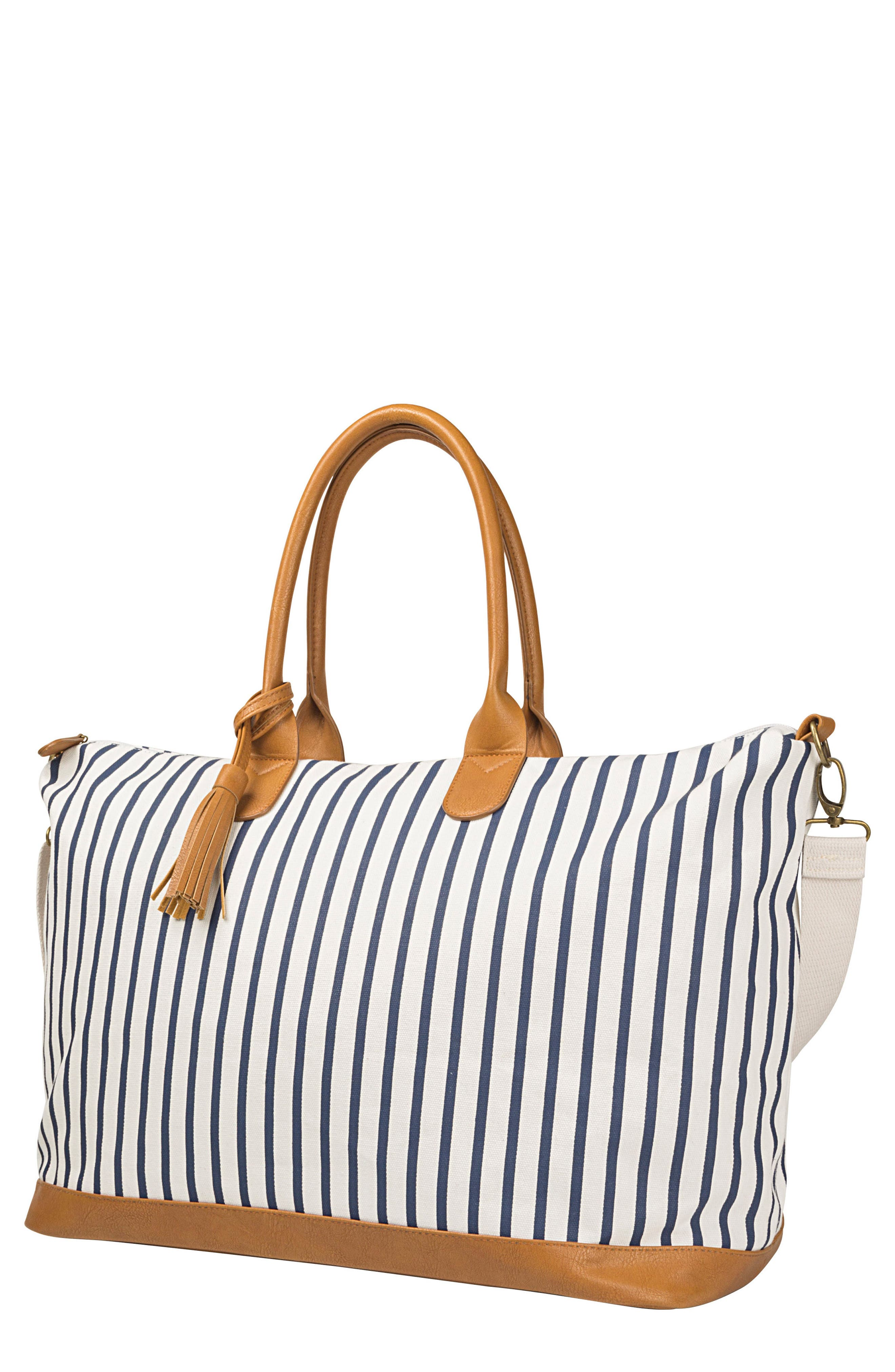 CATHY'S CONCEPTS, Monogram Oversized Tote, Main thumbnail 1, color, BLUE