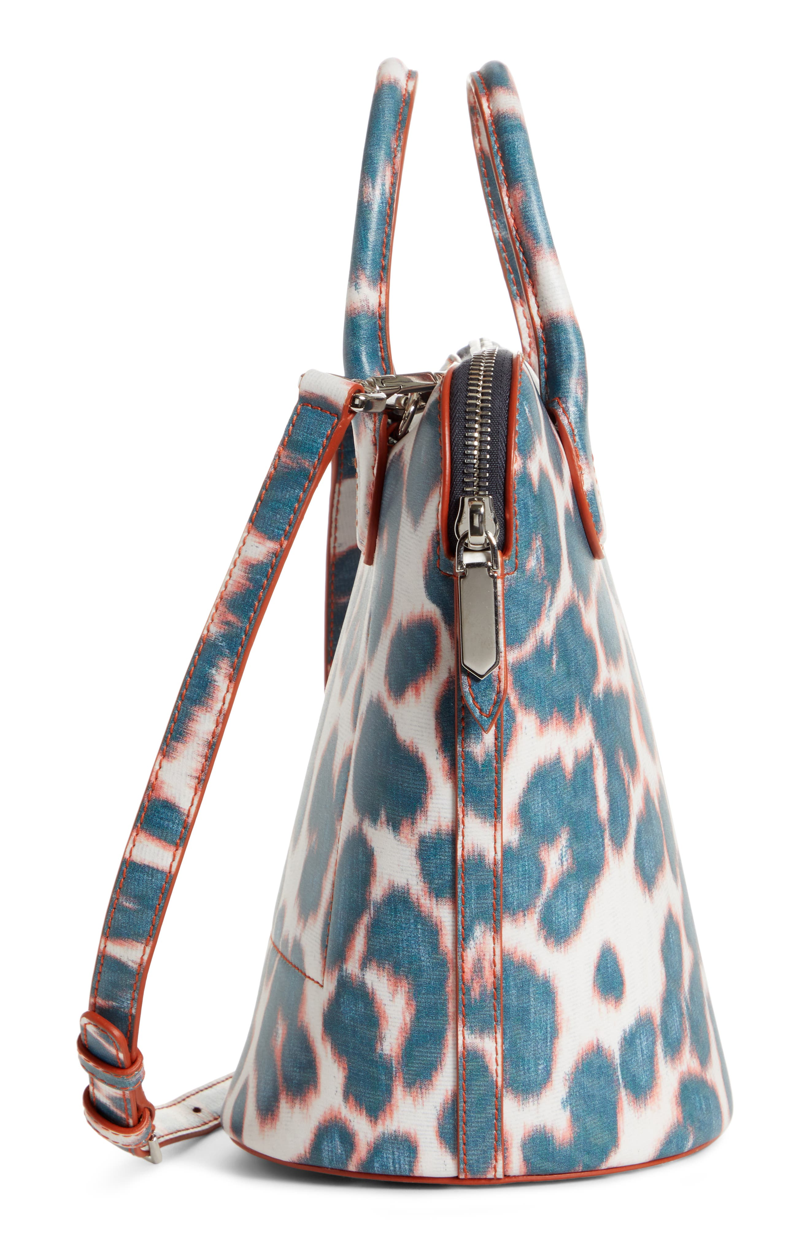 CALVIN KLEIN 205W39NYC, Mini Dalton Calfskin Bucket Bag, Alternate thumbnail 5, color, ELECTRIC PANTHER