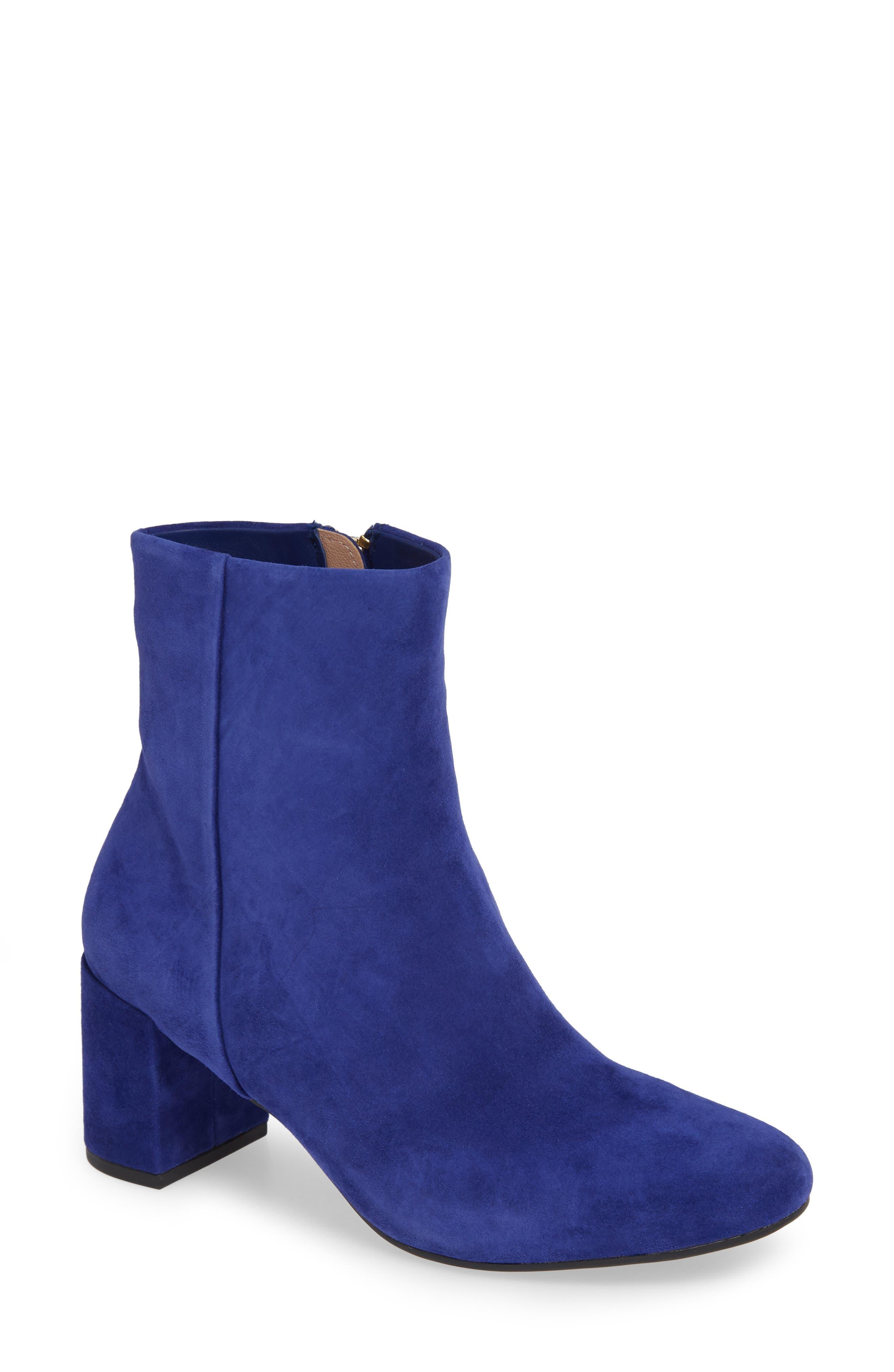 Taryn Rose Cassidy Block Heel Bootie, Blue