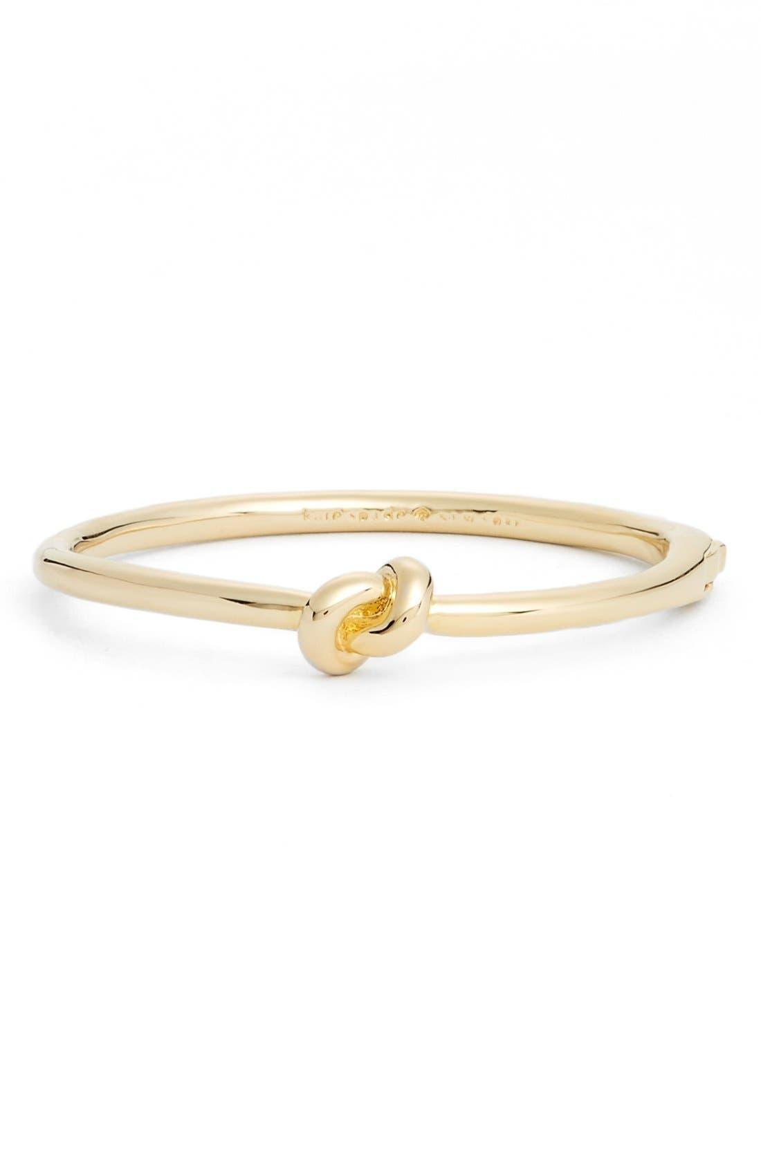 KATE SPADE NEW YORK 'sailors knot' bangle, Main, color, GOLD