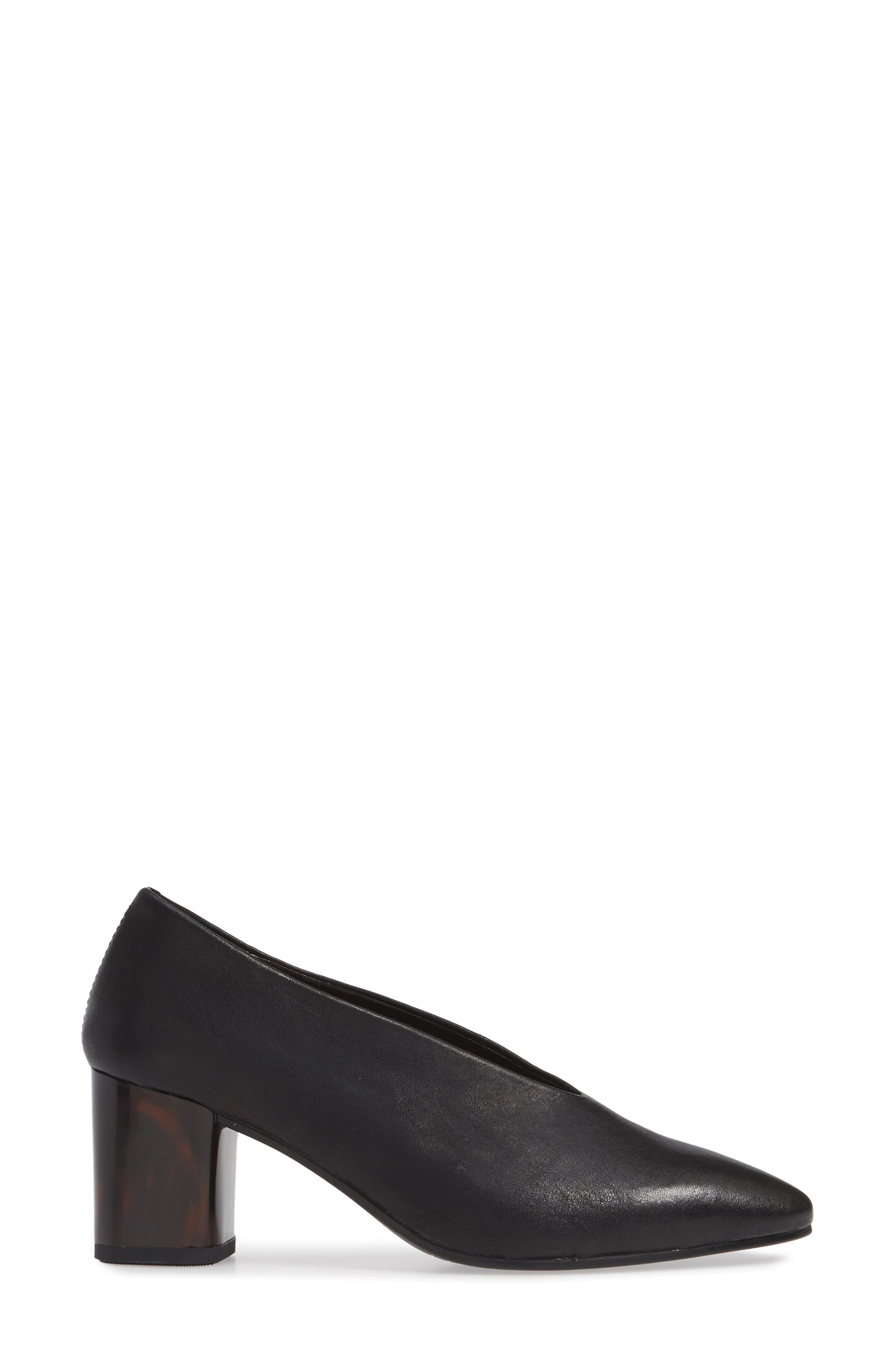 VAGABOND, Shoemakers Eve Pump, Alternate thumbnail 3, color, BLACK/ BLACK LEATHER