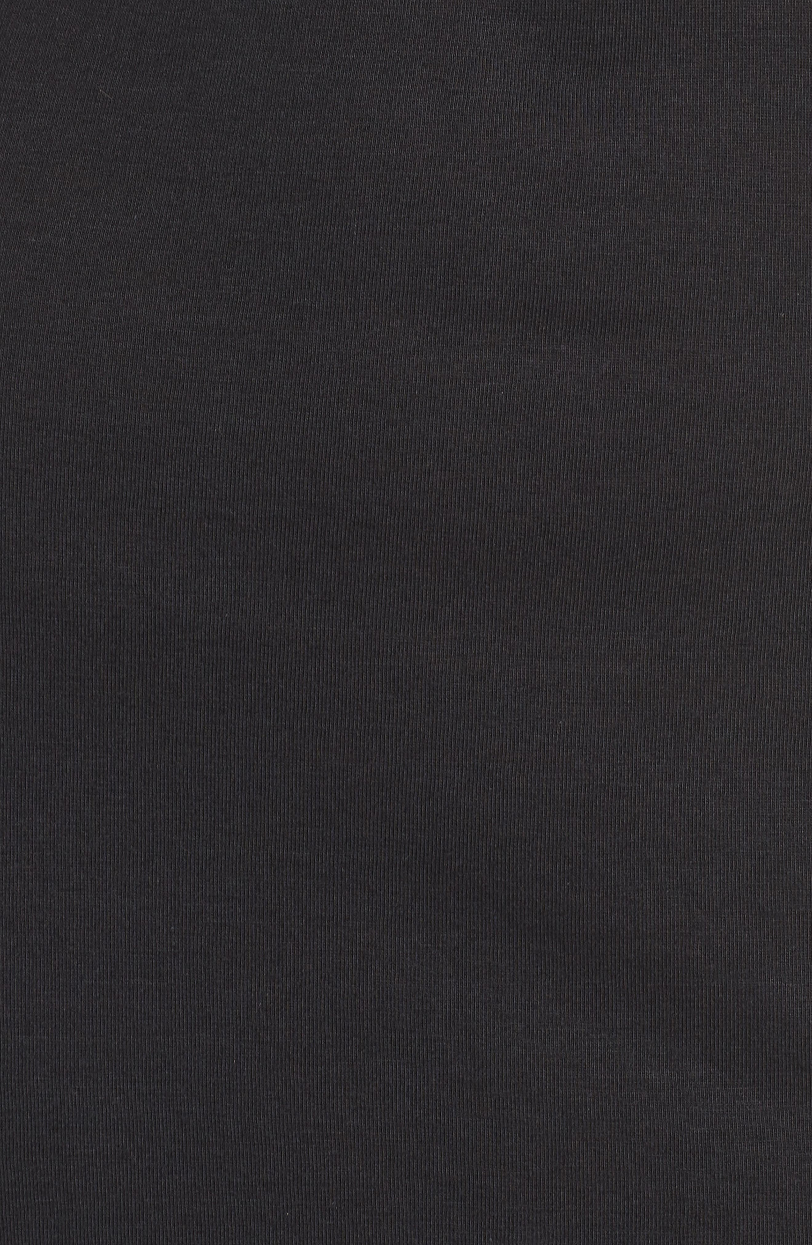 NATORI, Luxe Shangri-La Nightgown, Alternate thumbnail 5, color, BLACK