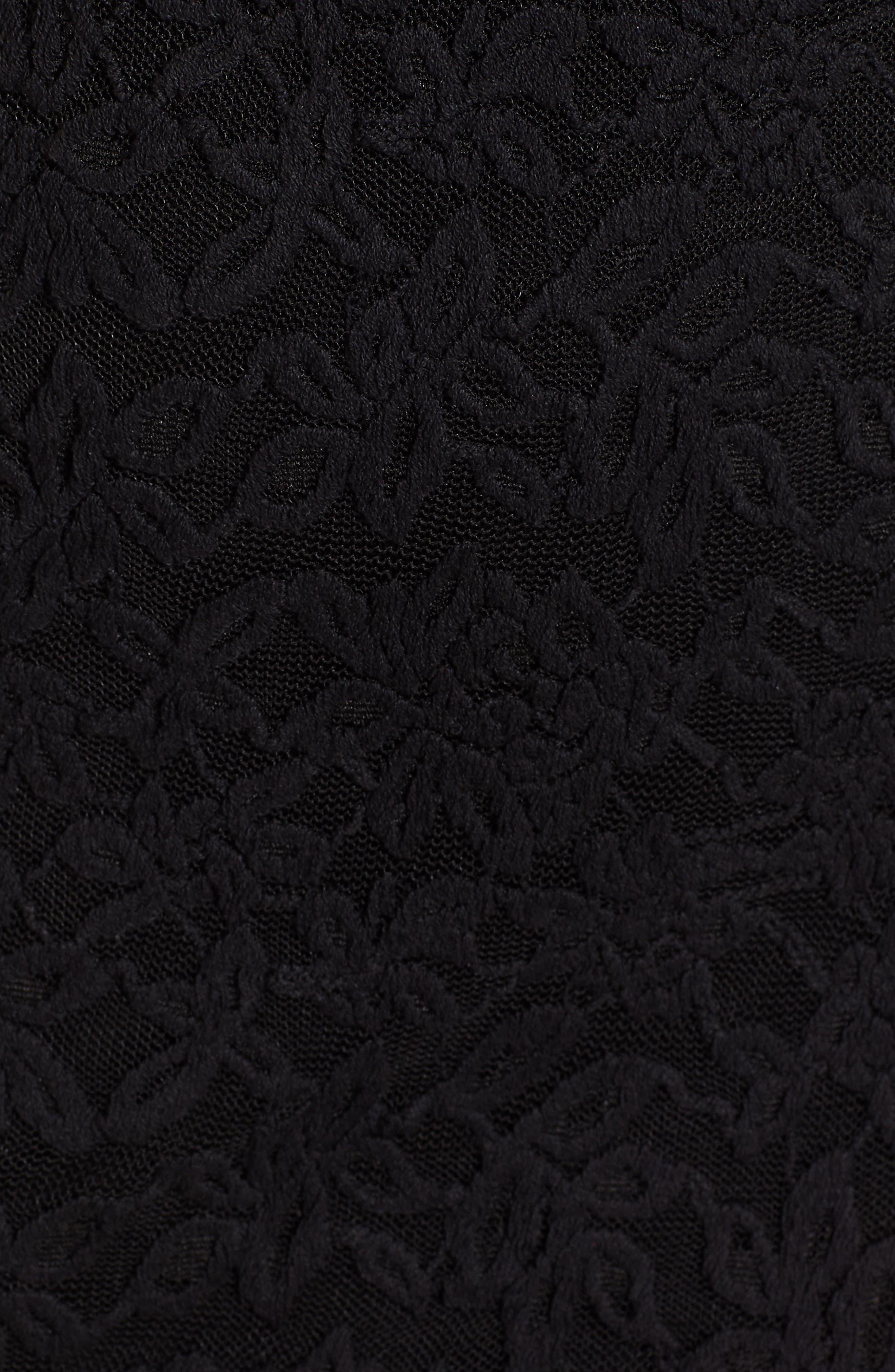 ROSEMUNDE, Delicia V-Neck Dress, Alternate thumbnail 6, color, BLACK