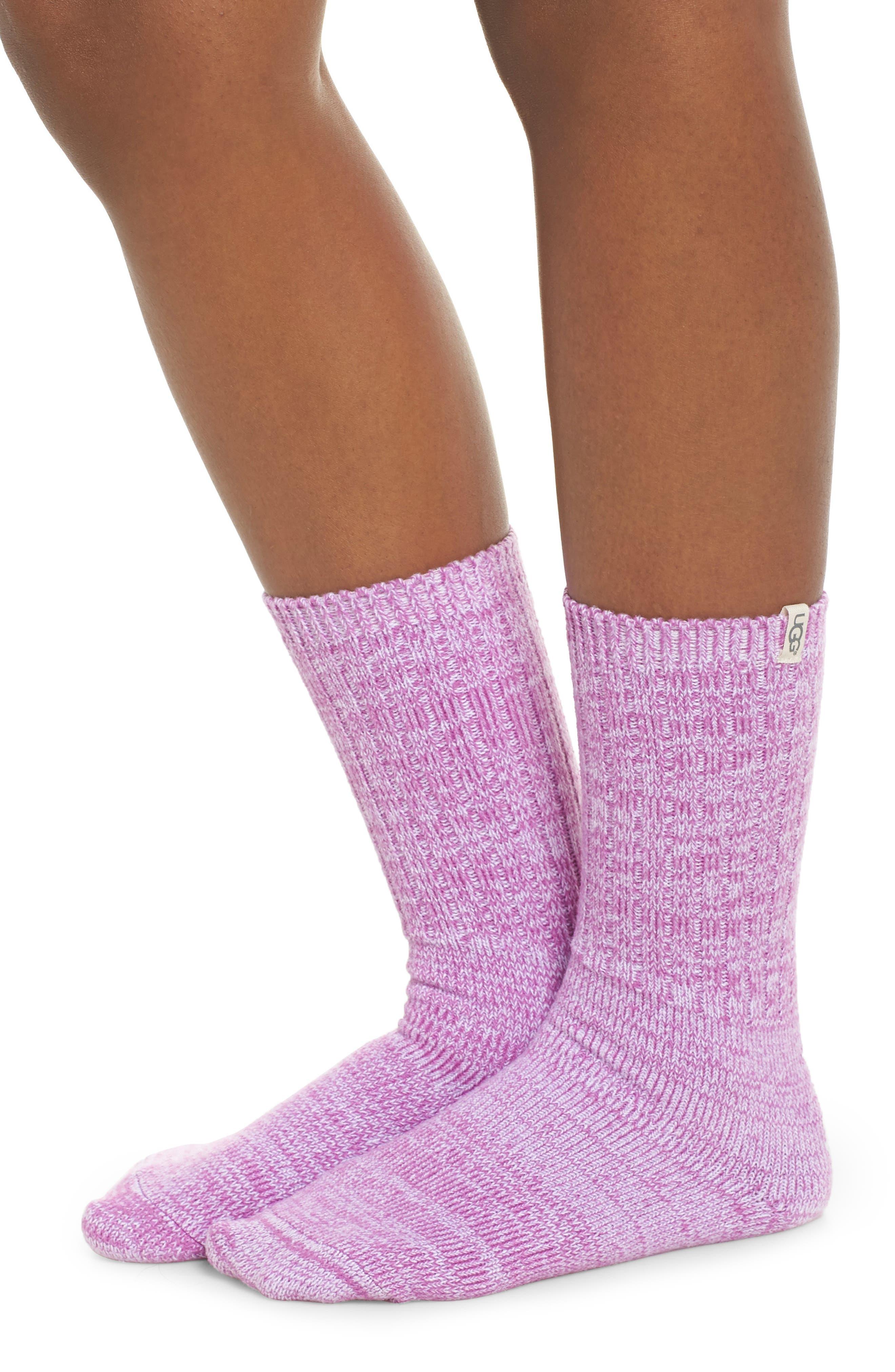 UGG<SUP>®</SUP>, Sleep Shirt & Socks Set, Alternate thumbnail 4, color, BODACIOUS PLAID