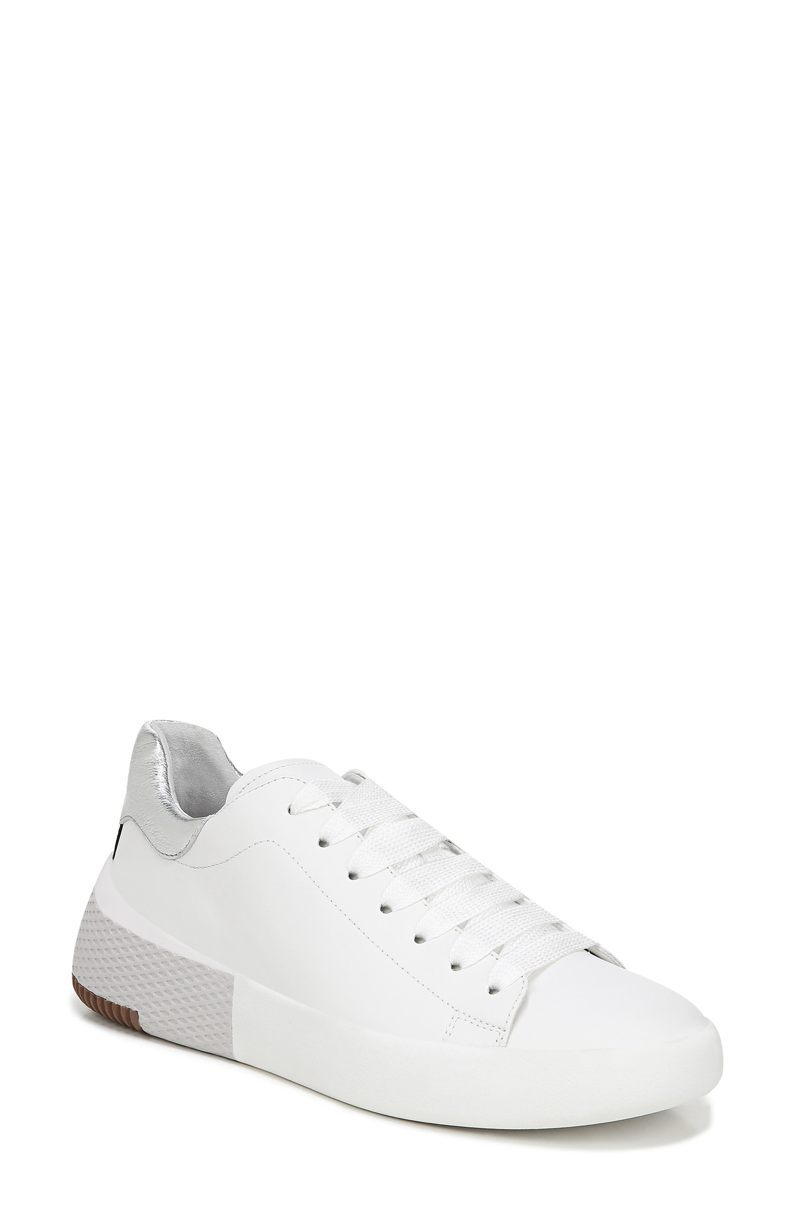 VIA SPIGA Parrel Sneaker, Main, color, PORCELAIN/ SILVER