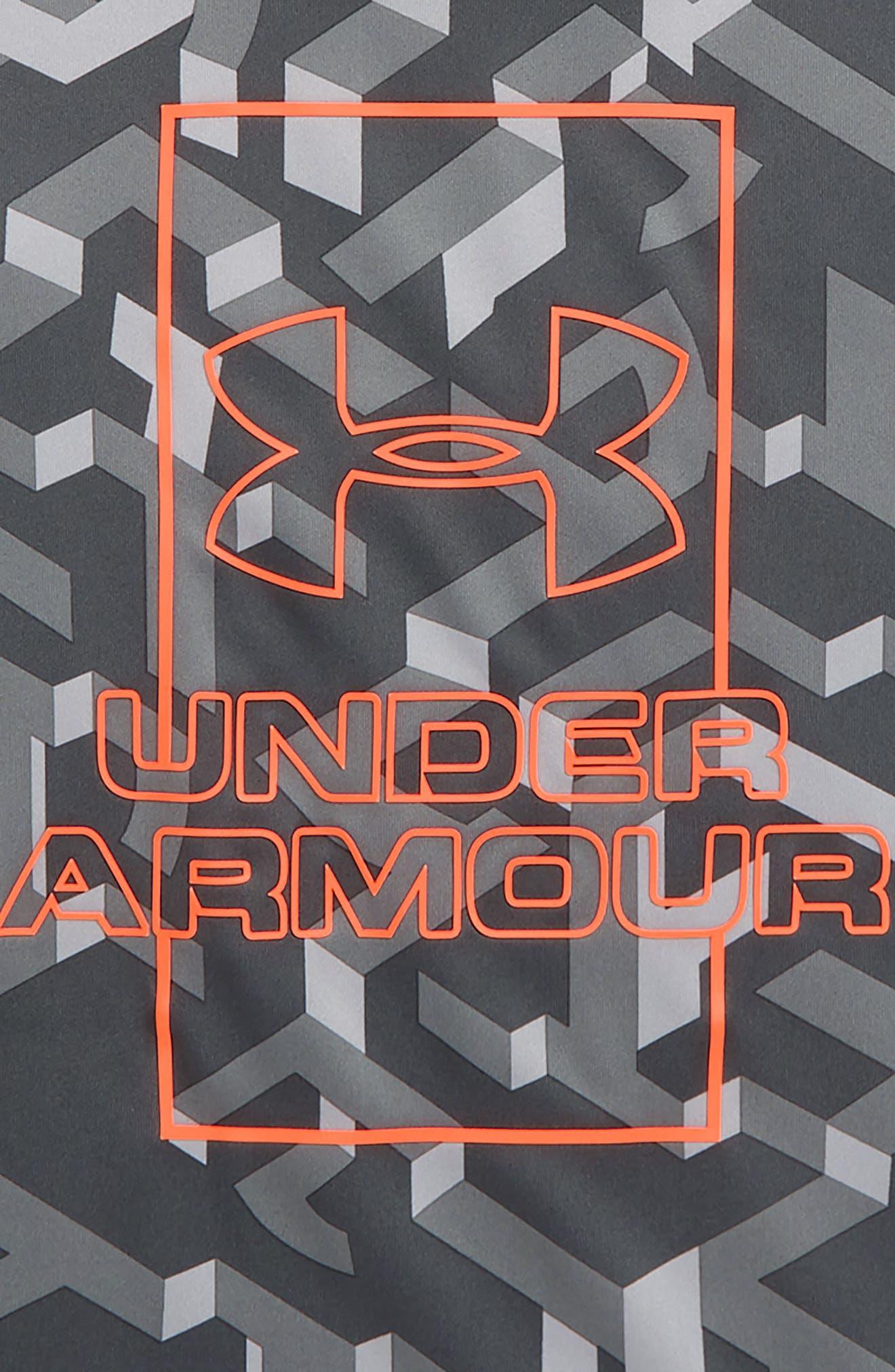 UNDER ARMOUR, Knockout HeatGear<sup>®</sup> T-Shirt, Alternate thumbnail 2, color, MOD GRAY