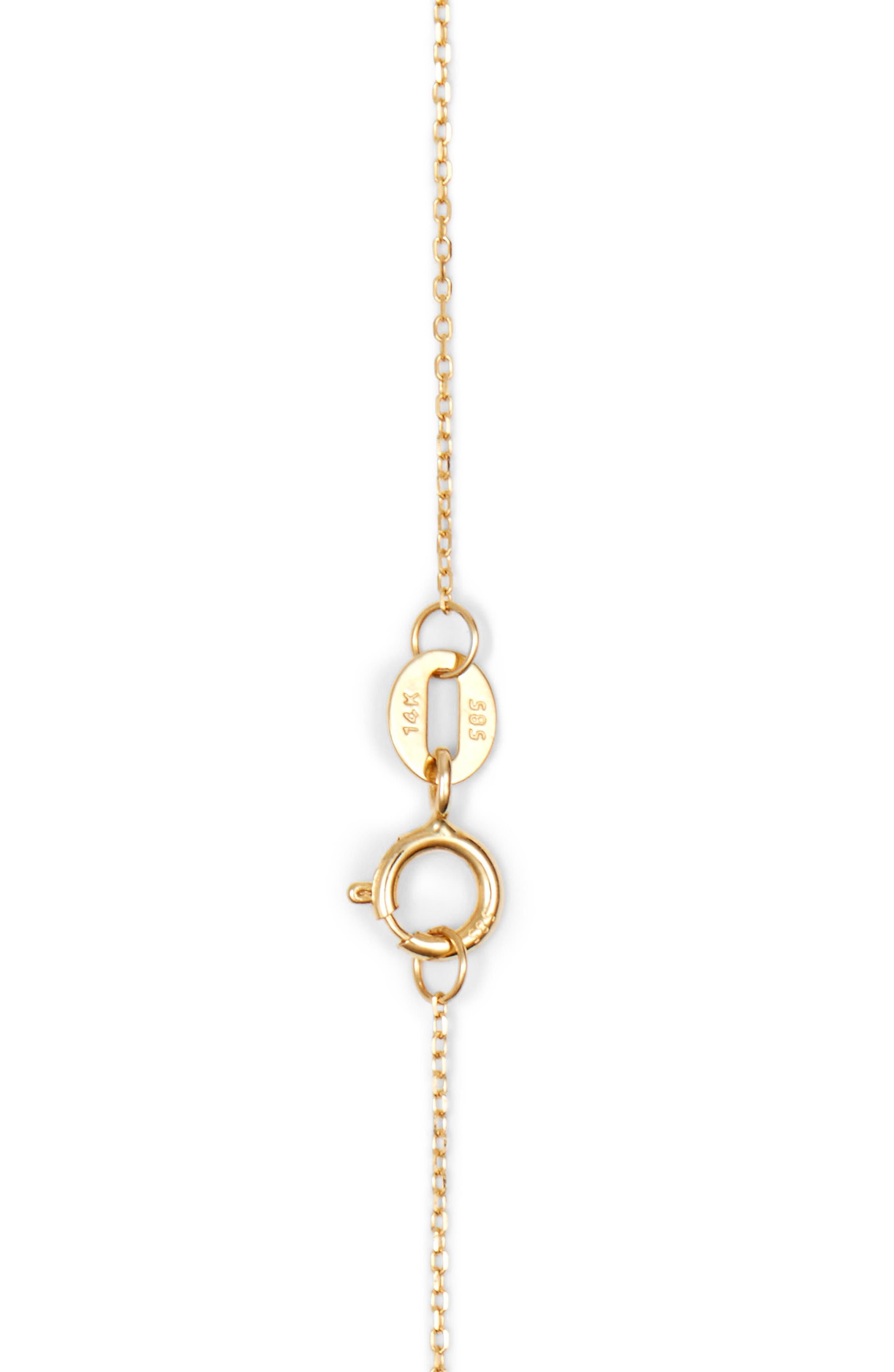 DANA REBECCA DESIGNS, 'Sylvie Rose' Diamond Bar Pendant Necklace, Alternate thumbnail 4, color, YELLOW GOLD