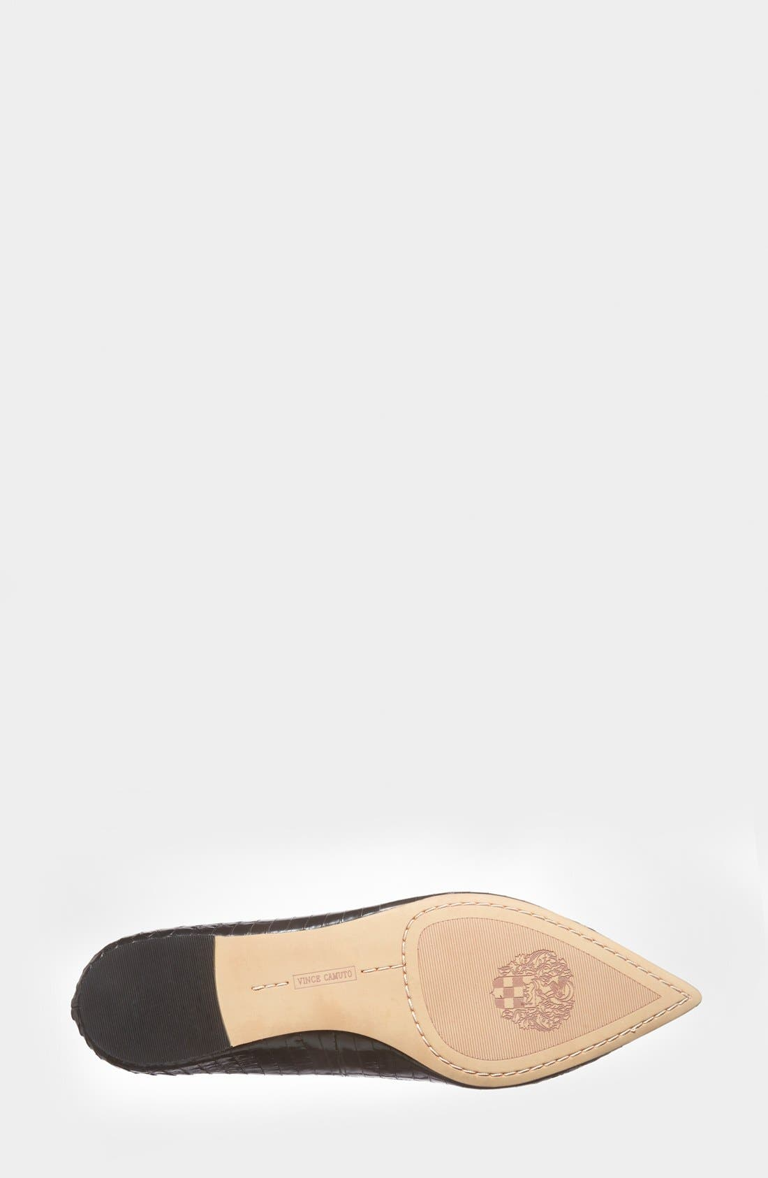VINCE CAMUTO, 'Empa' Pointy Toe Loafer Flat, Alternate thumbnail 2, color, 001