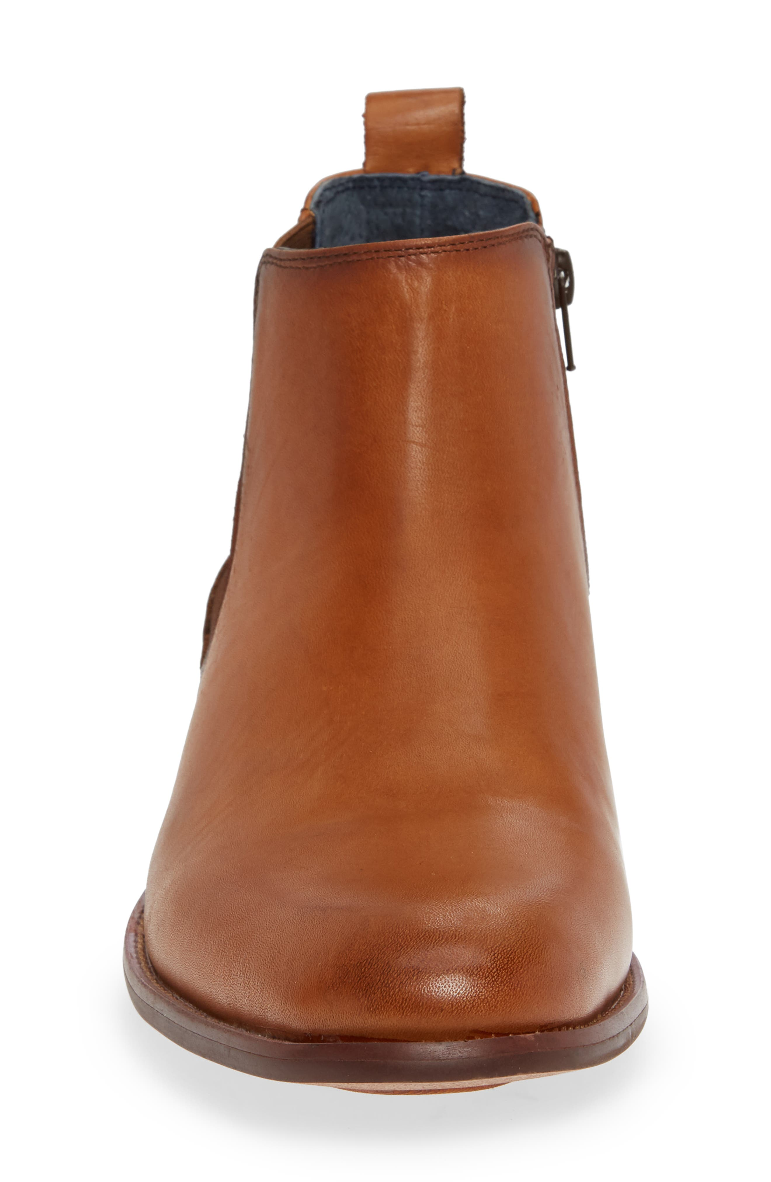 JUMP, Collin Plain Toe Chelsea Boot, Alternate thumbnail 4, color, TAN