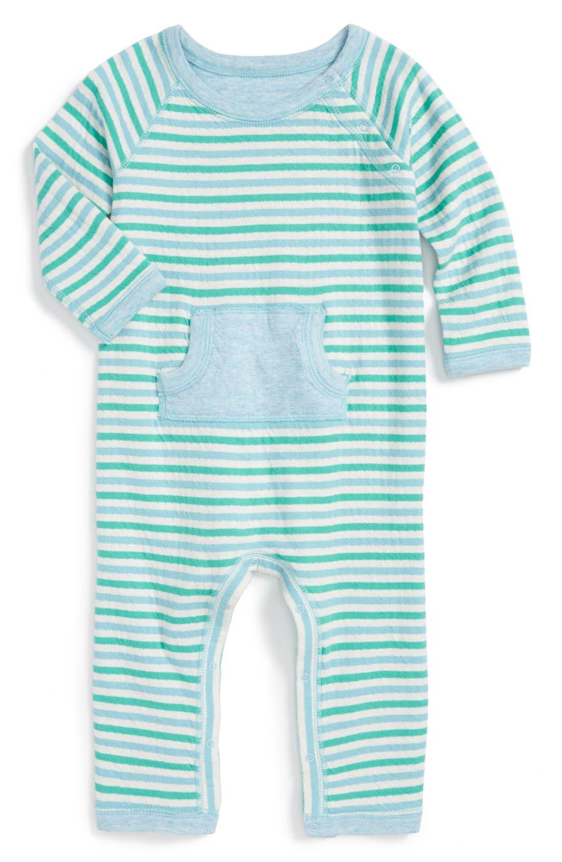 STEM BABY Reversible Organic Cotton Romper, Main, color, 450