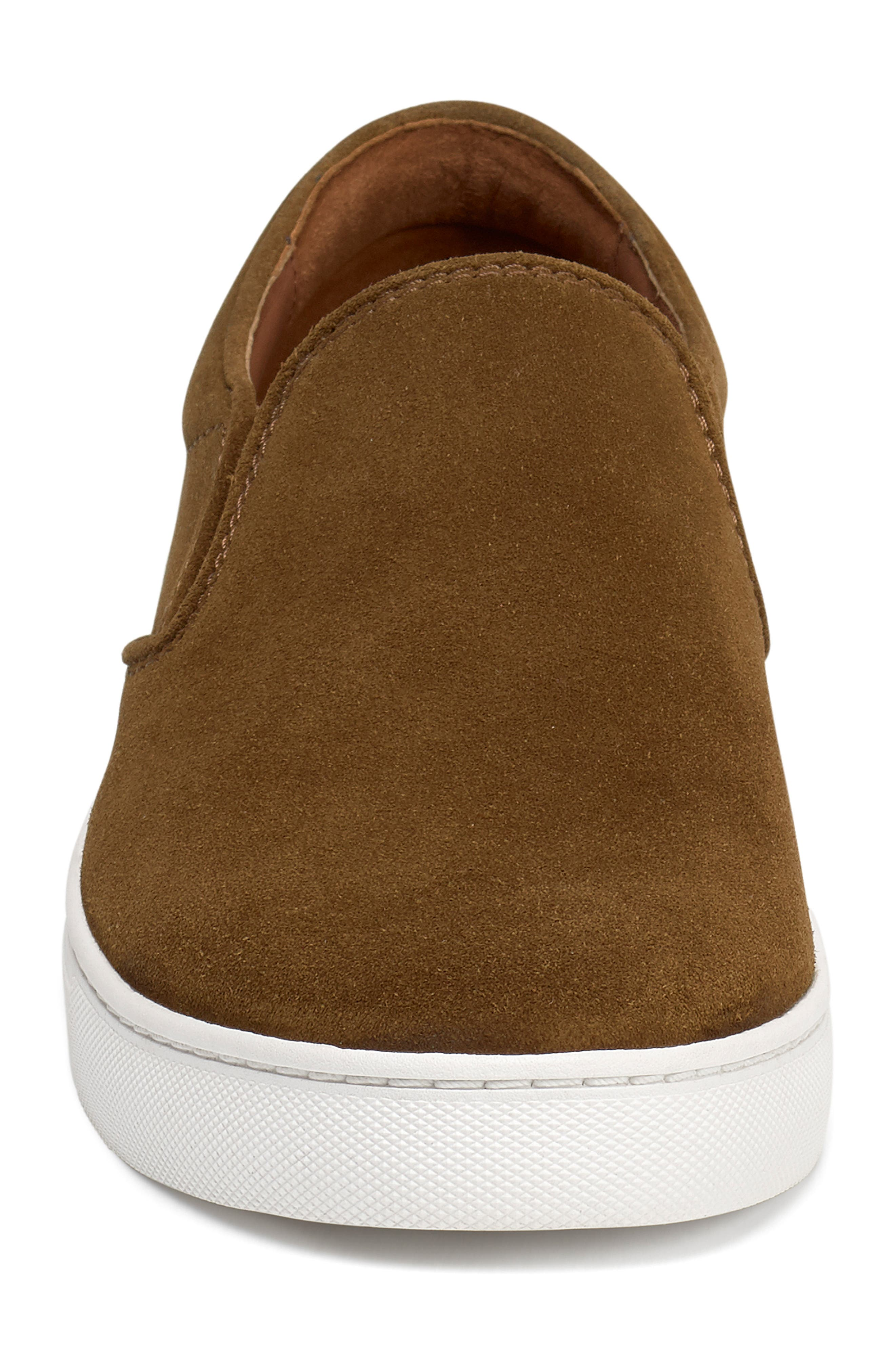 TRASK, Alex Slip-On Sneaker, Alternate thumbnail 4, color, SNUFF SUEDE