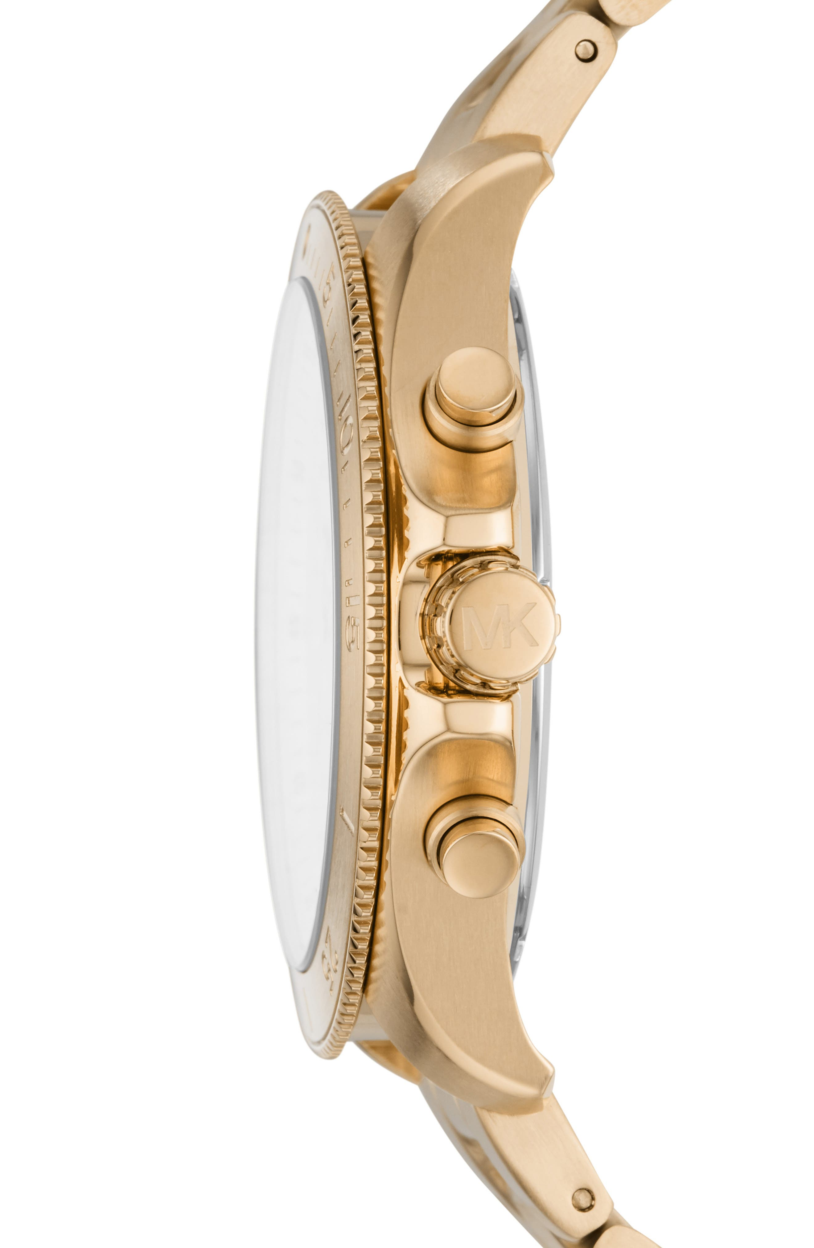MICHAEL KORS, Theroux Bracelet Watch, 45mm, Alternate thumbnail 2, color, GOLD