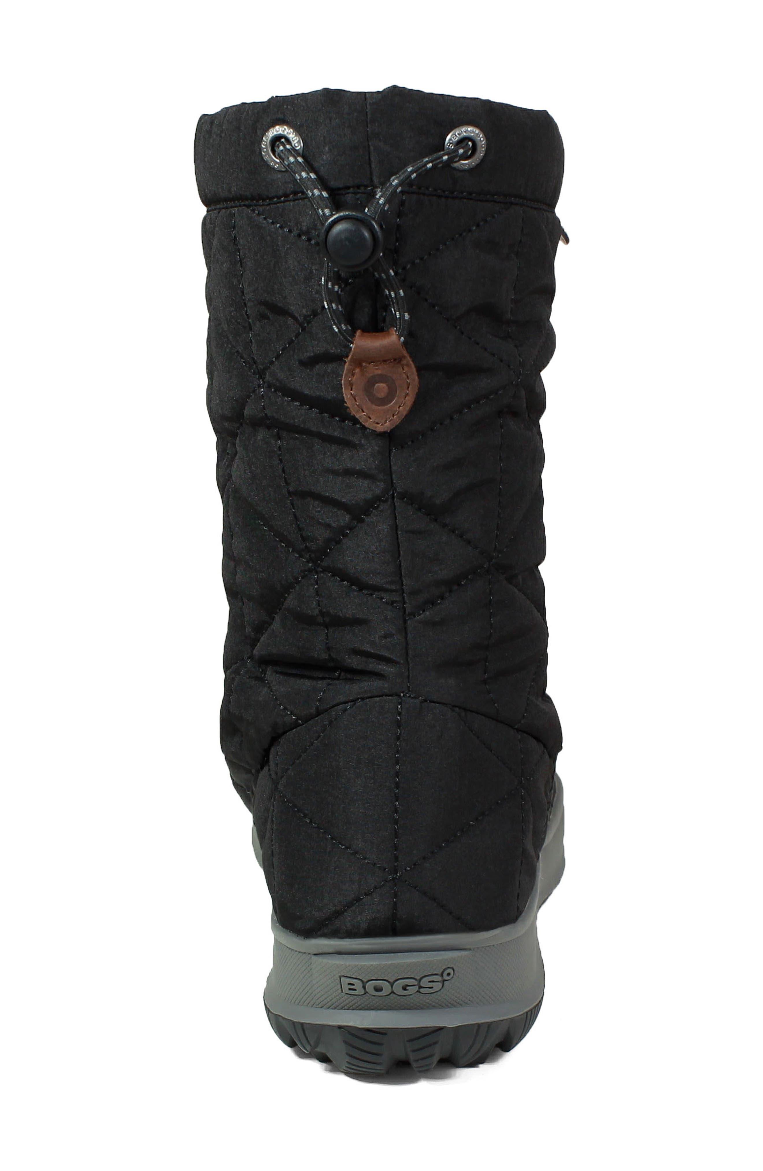 BOGS, Mid Snowday Waterproof Bootie, Alternate thumbnail 7, color, BLACK