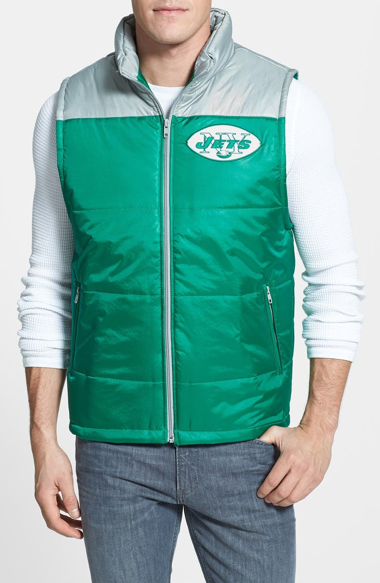 new product b0af7 3e1db Mitchell & Ness 'Winning Team - New York Jets' Quilted Vest ...