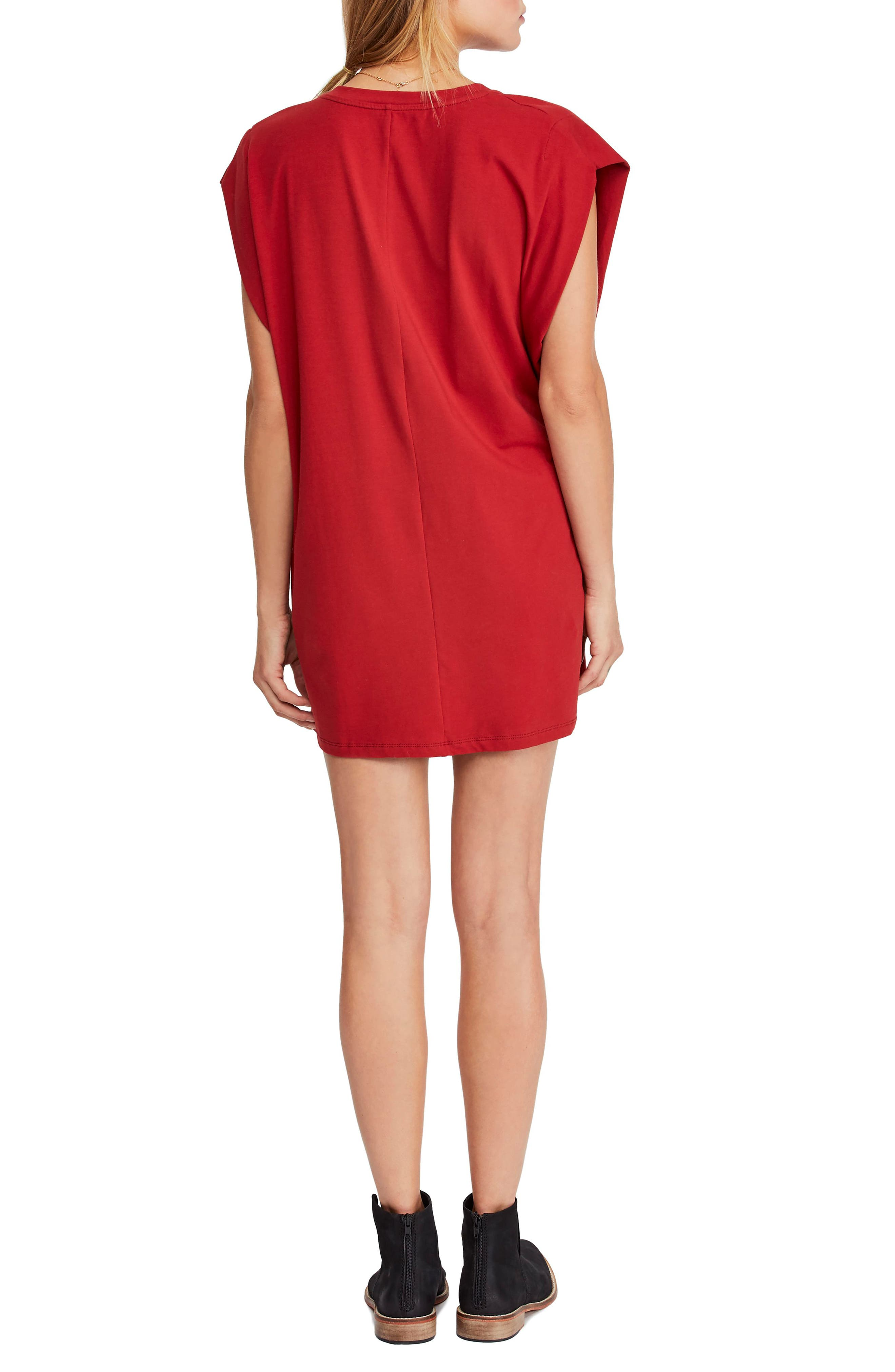 FREE PEOPLE, Bianca Shift Dress, Alternate thumbnail 2, color, RED