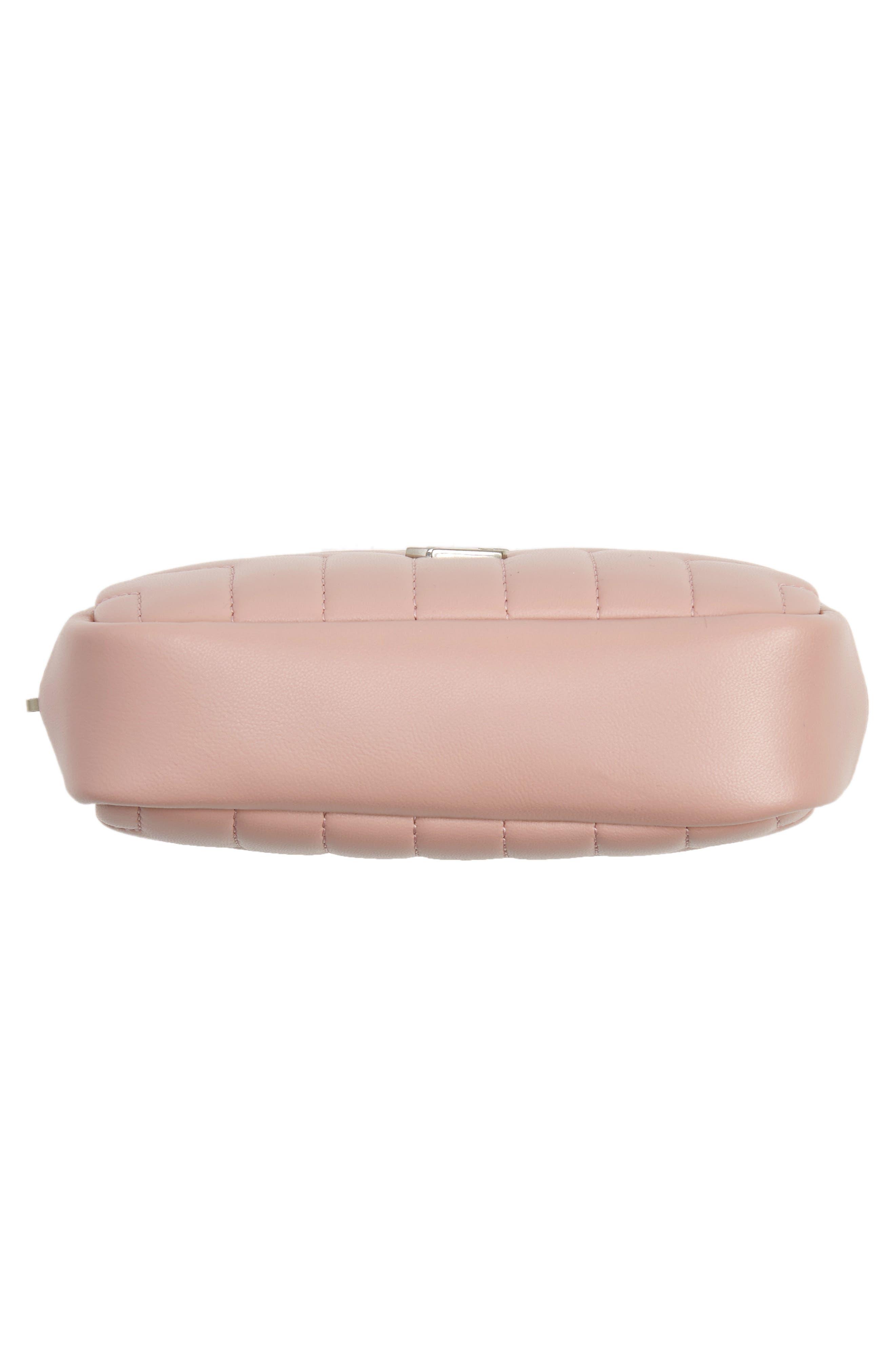 SAINT LAURENT, Loulou Matelassé Leather Cosmetics Bag, Alternate thumbnail 5, color, TENDER PINK