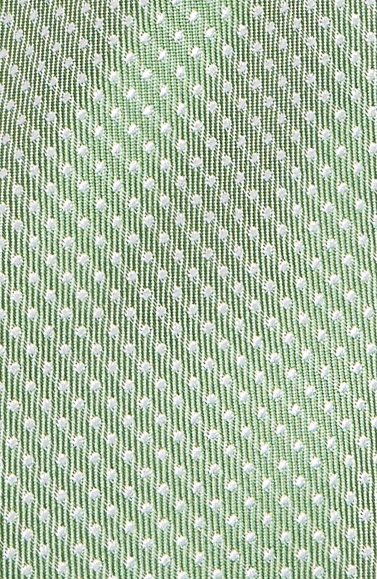 NORDSTROM, Dakota Dot Silk Tie, Alternate thumbnail 2, color, GREEN